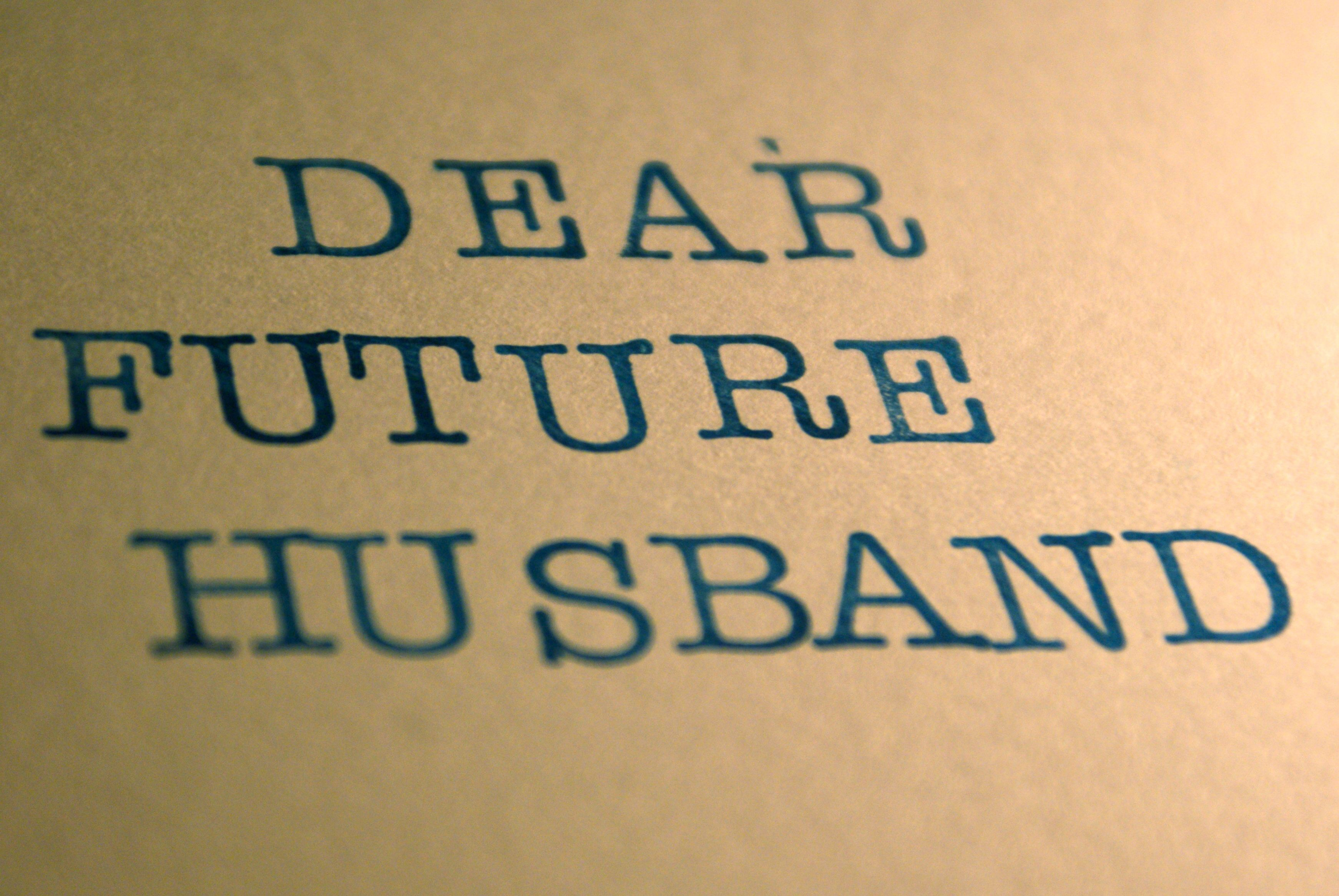 letters to my future husband | Someday Soon | Pinterest