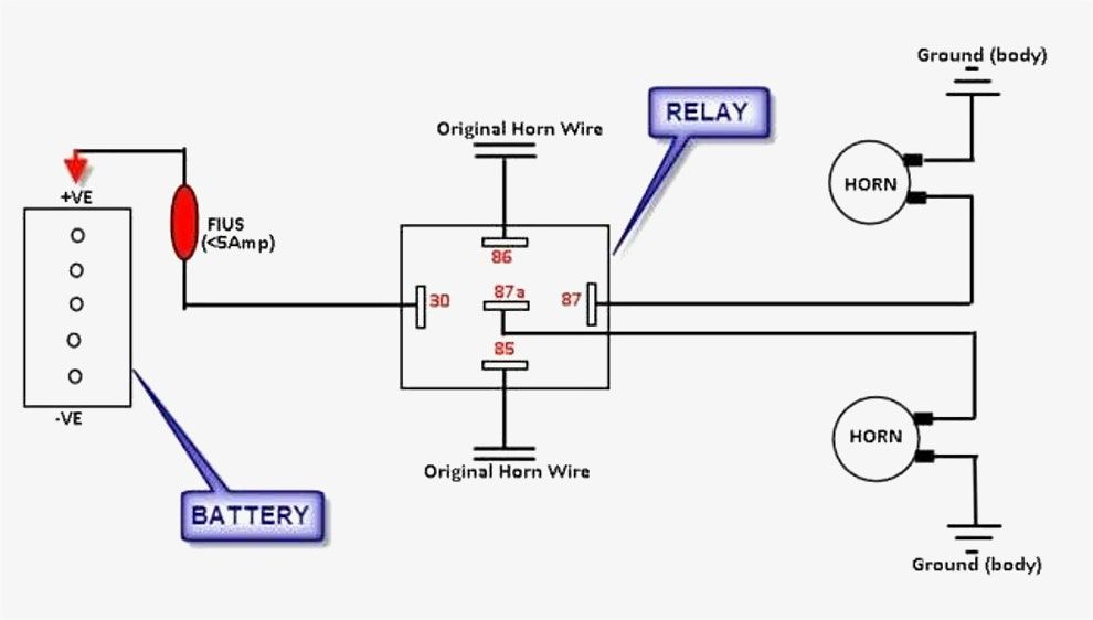 Great Wiring Diagram For Horn Relay Horn Relay Simple Wiring 12 V Diagram Horns Wire