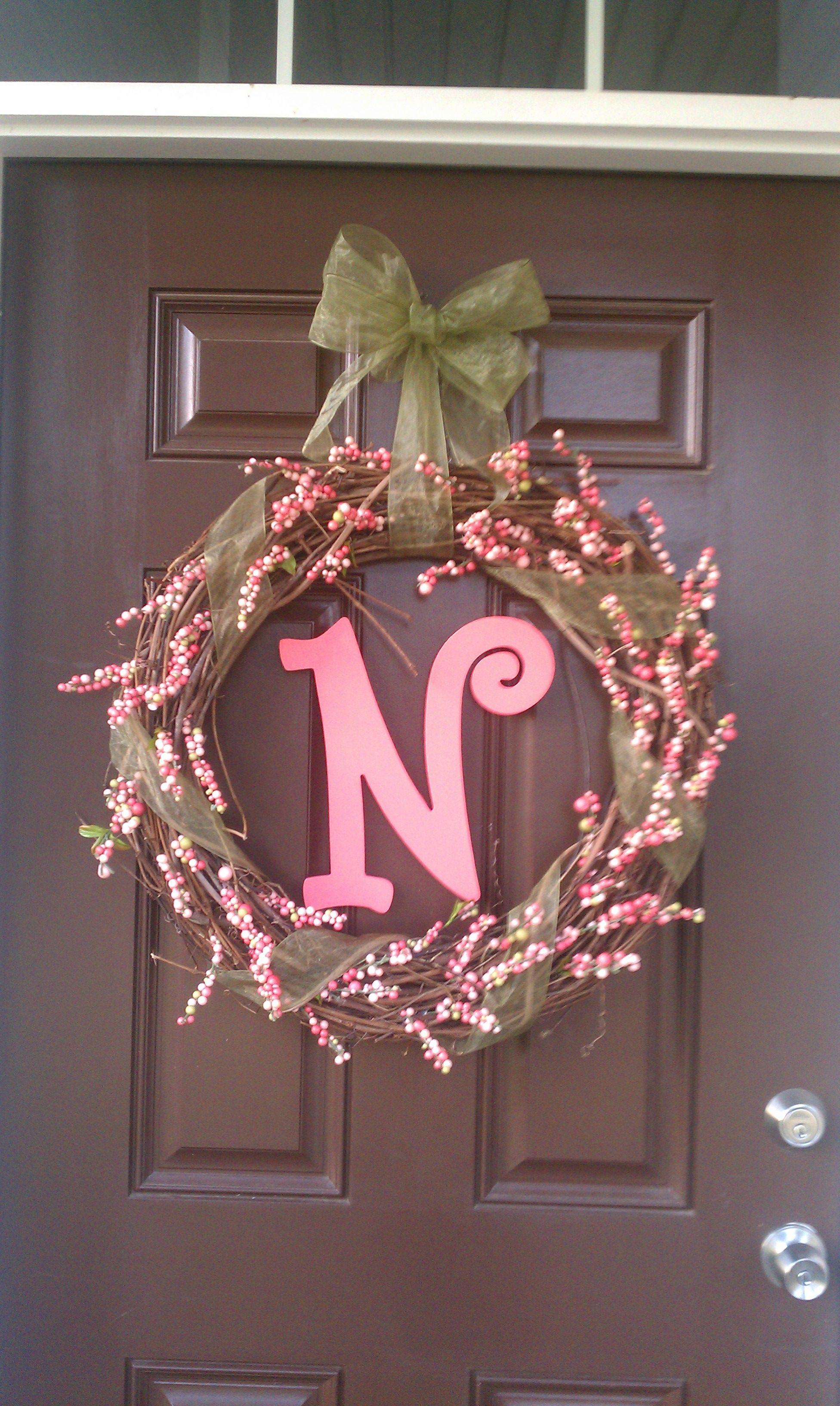 Spring Front Door Wreath Crafts Pinterest