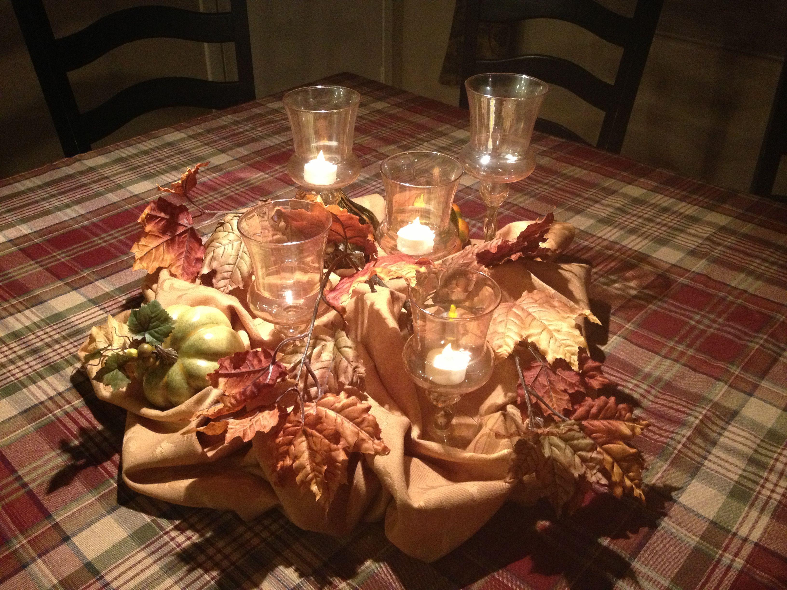 Thanksgiving centerpiece fall pinterest