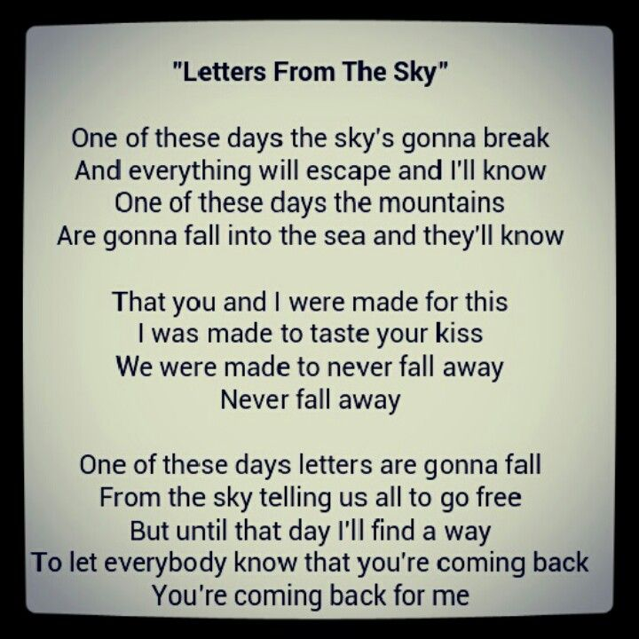 Letters From The Sky~Civil Twilight | Music | Pinterest