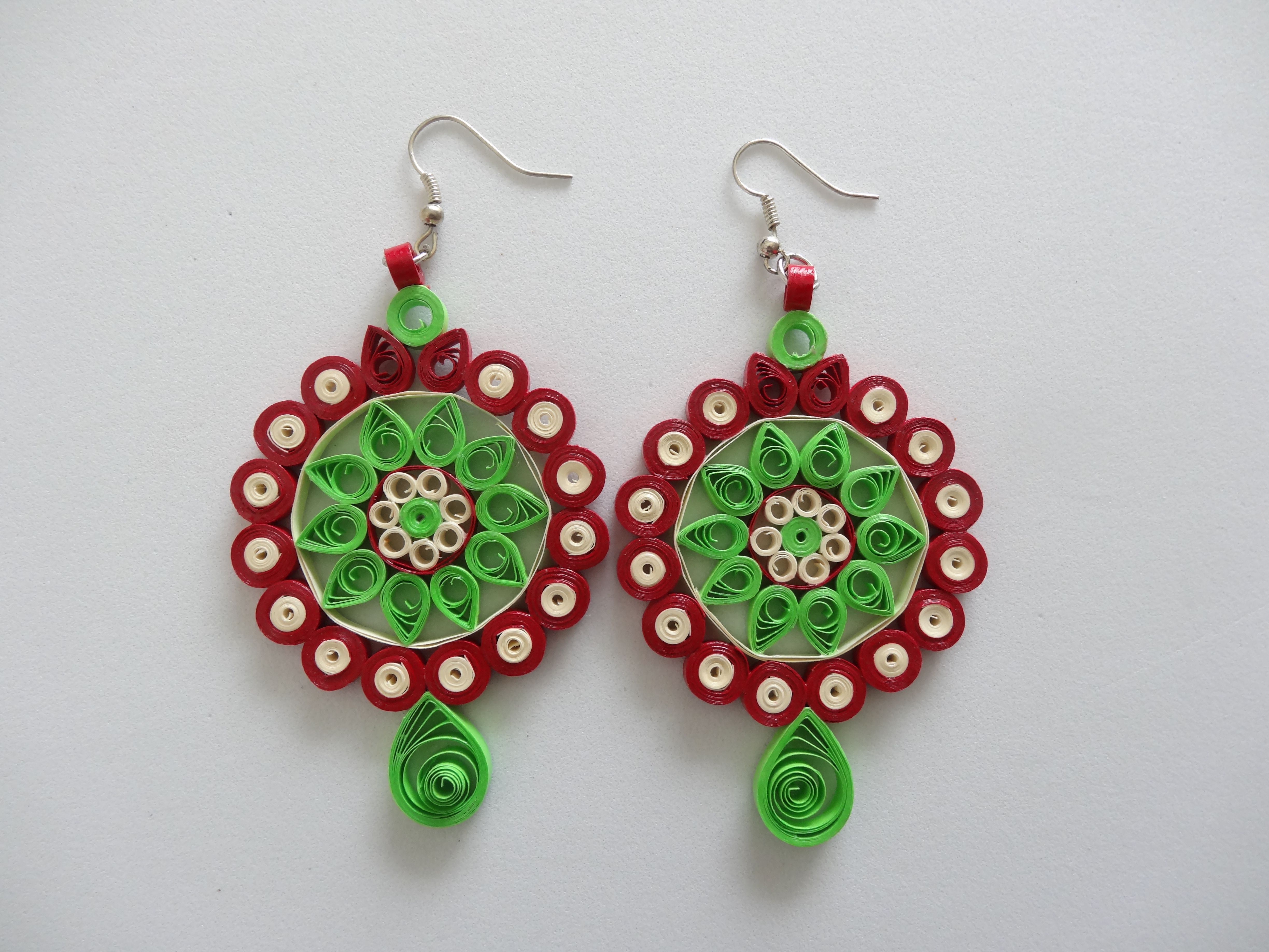 Quilling Earrings Designs Latest : All handmade, paper quilled earrings. Quilling Accessories Pinter?