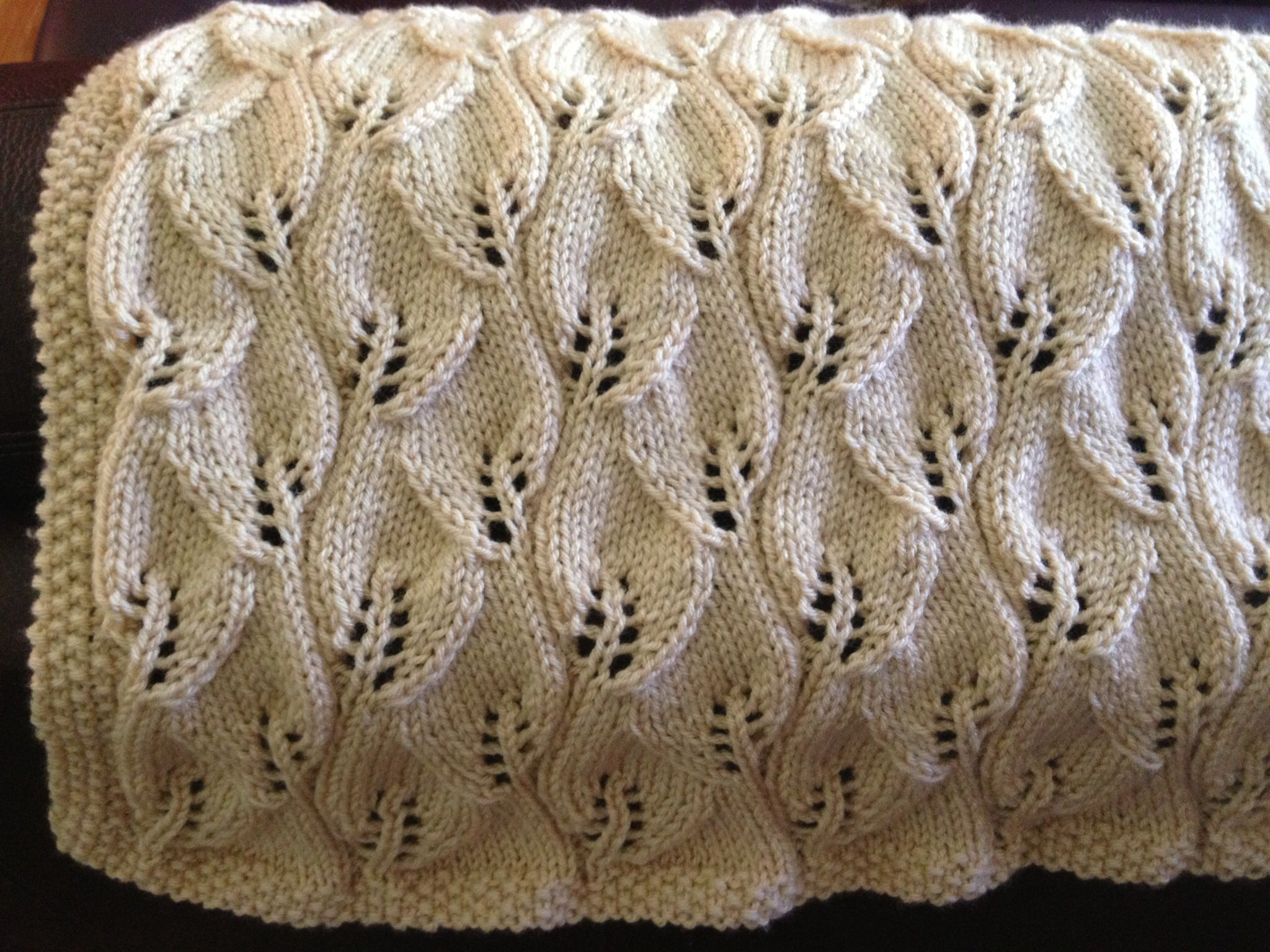 Leaf baby blanket My knitting projects Pinterest