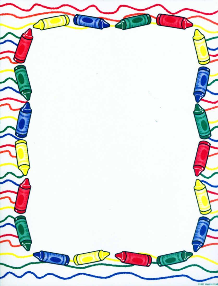 Crayon Border - Bing images