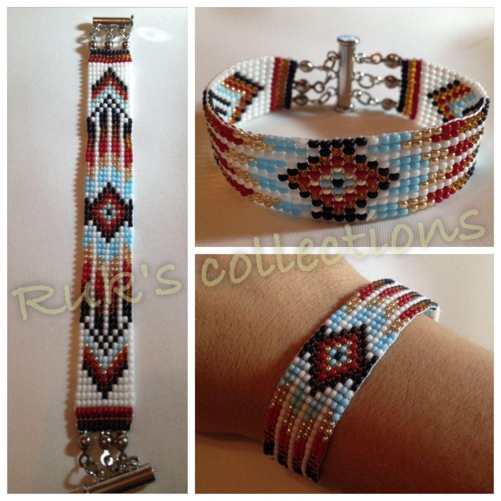 el yap箟m箟 boncuk bileklik handmade beadloom bracelet