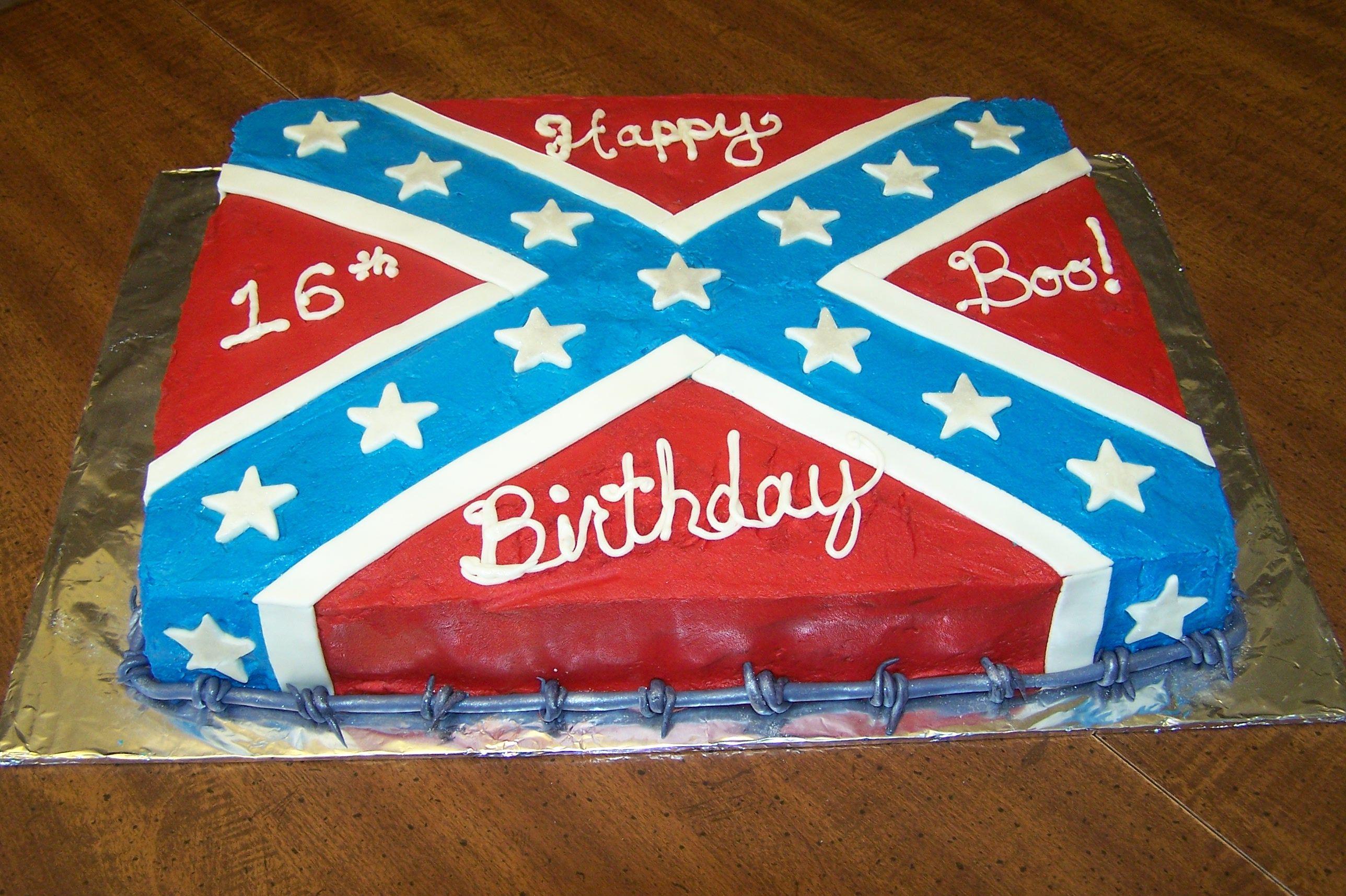 Cake Decor Flags : Rebel flag cake Cake decorating Pinterest