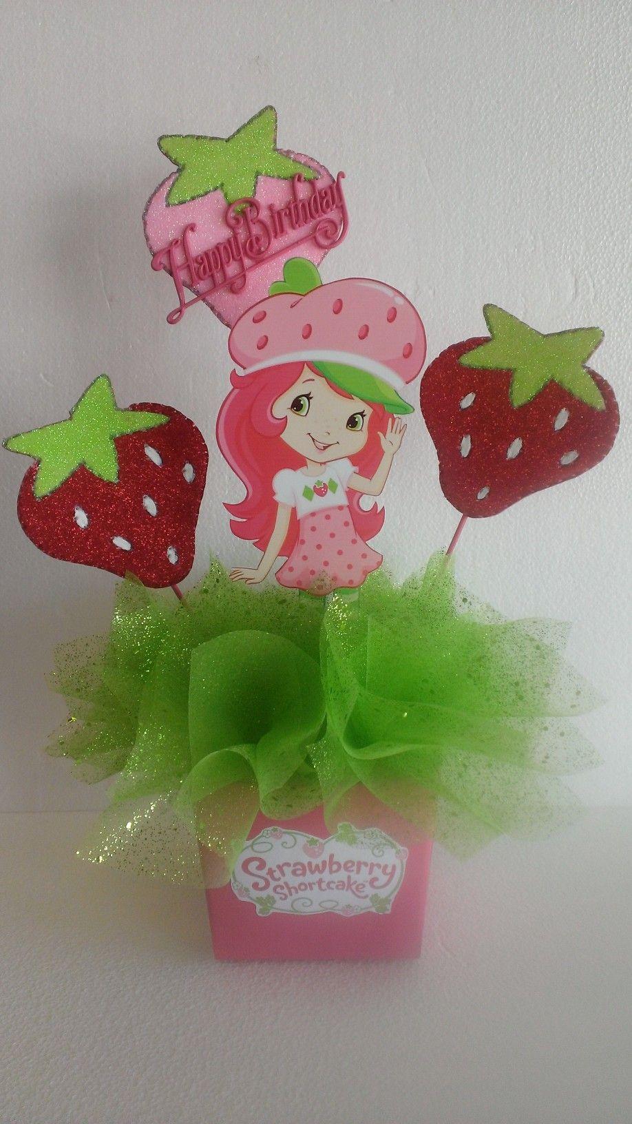 strawberry shortcake centerpiece birthday party baby shower center