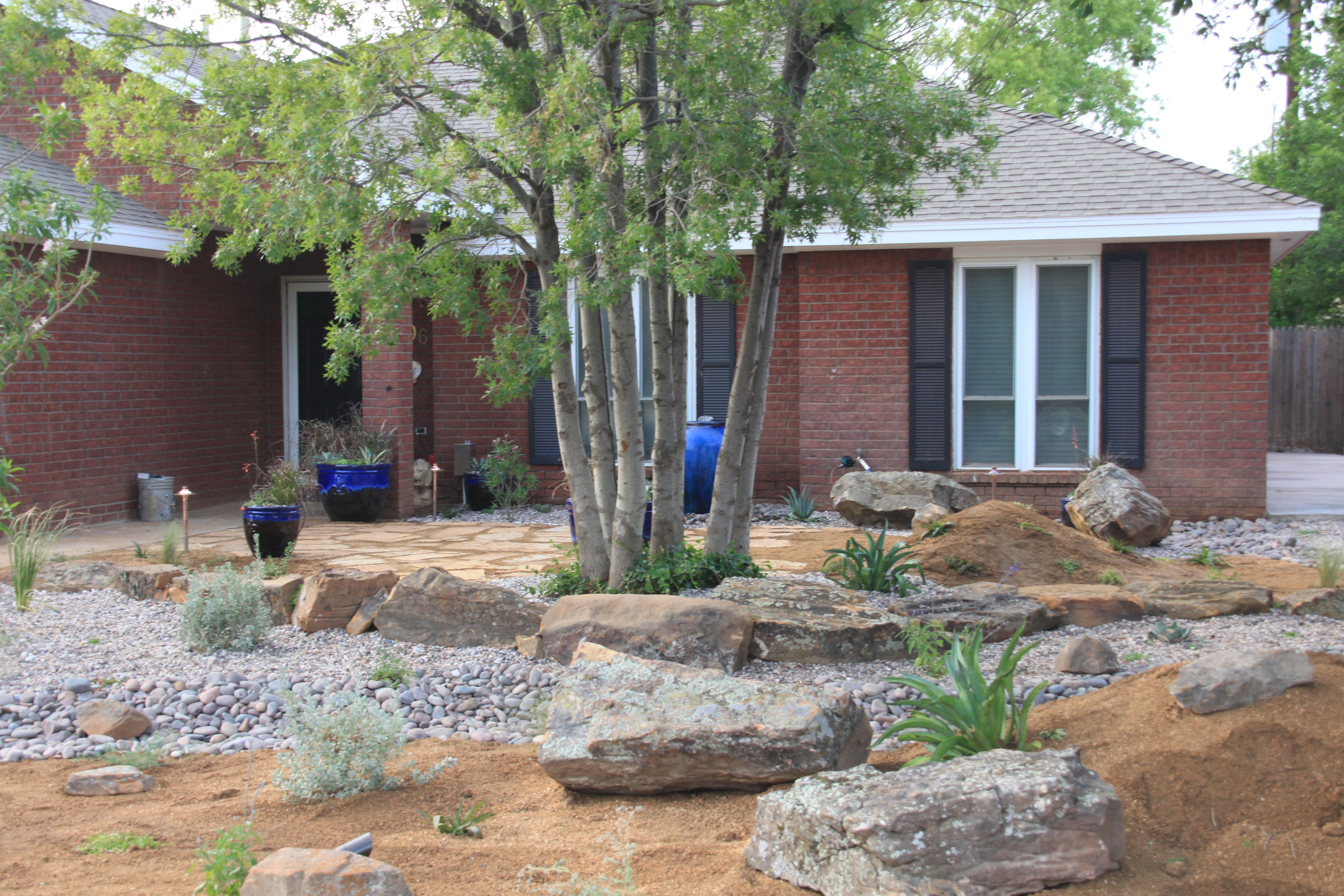 my xeriscape yard front yard pinterest. Black Bedroom Furniture Sets. Home Design Ideas