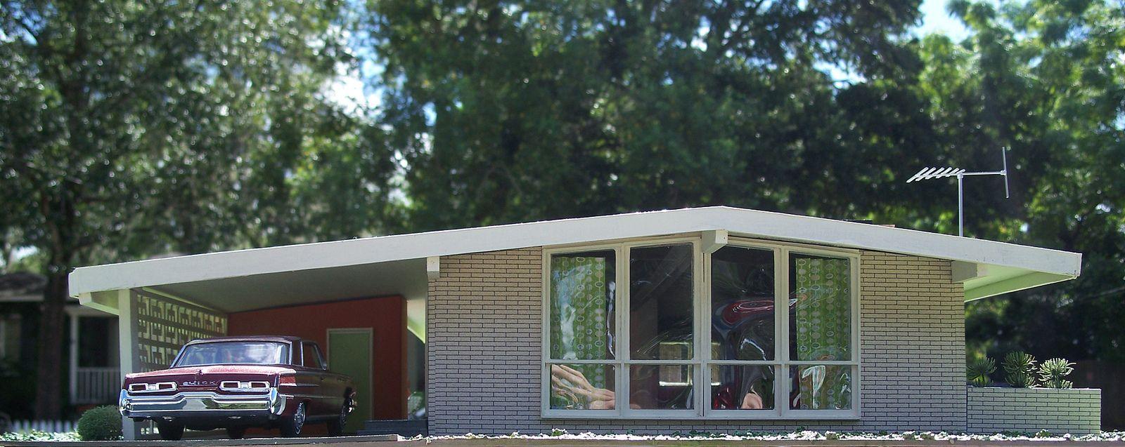 California post war suburban home architecture design for Post modern house