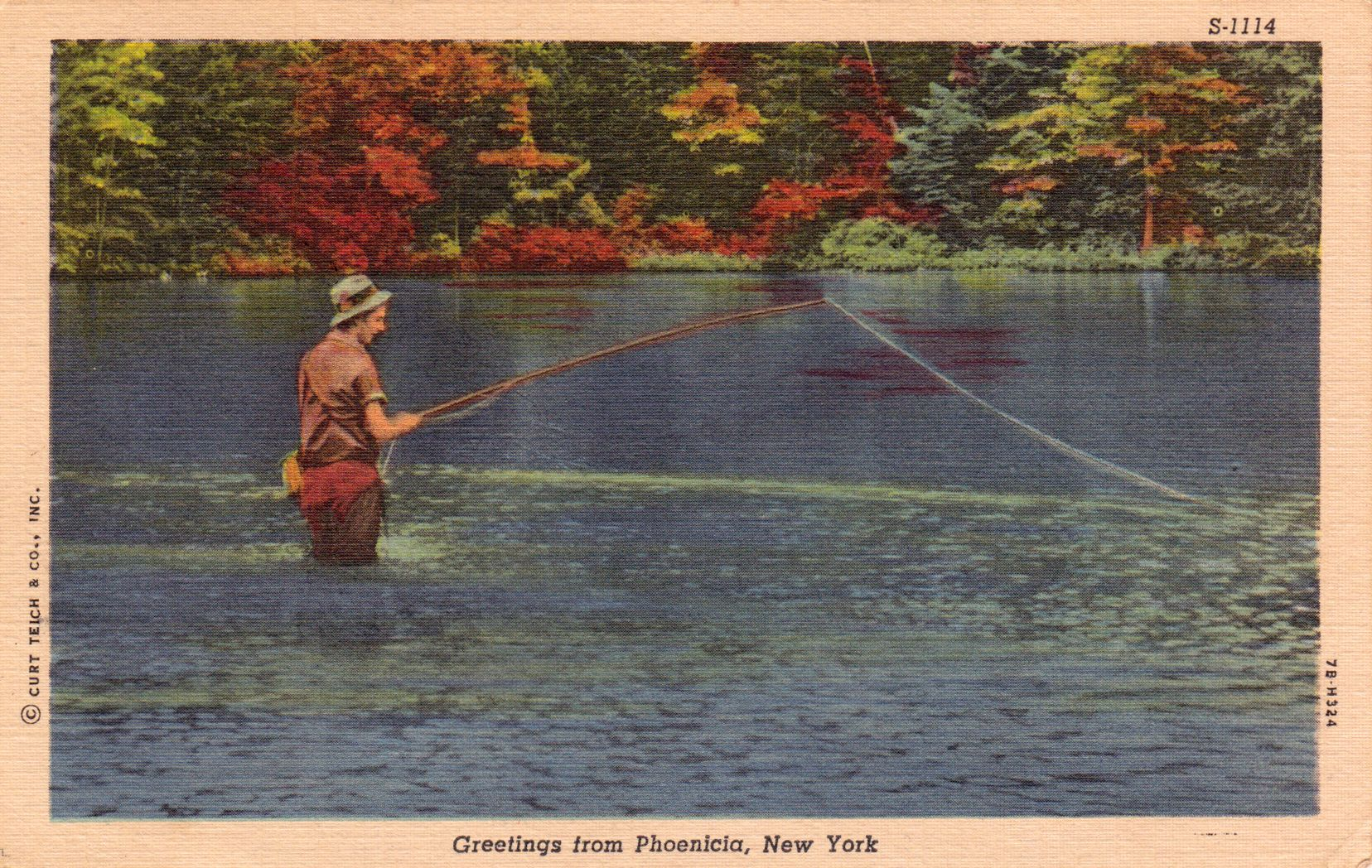 Fly fishing in phoenicia ny vintage fly fishing art for Fly fishing flys