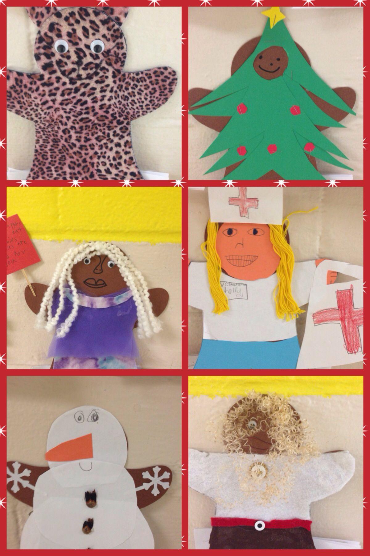 Disguised gingerbread men 2 | Teaching | Pinterest