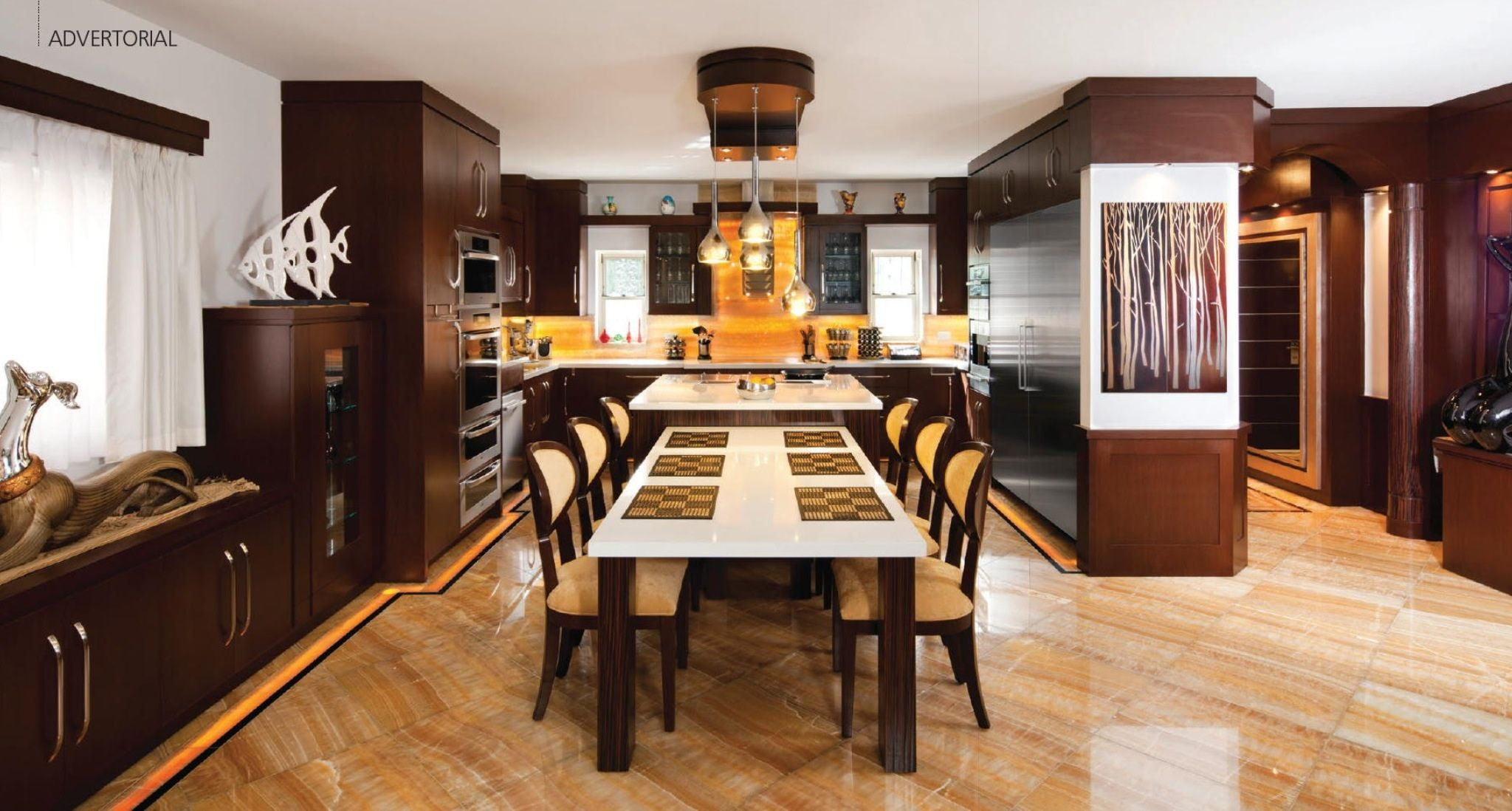 Like the table attached to island built ins i covet for D kitchen andheri east