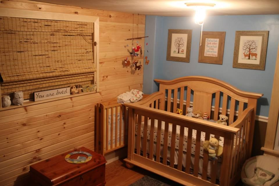 our baby boys rustic cozy nursery in the future