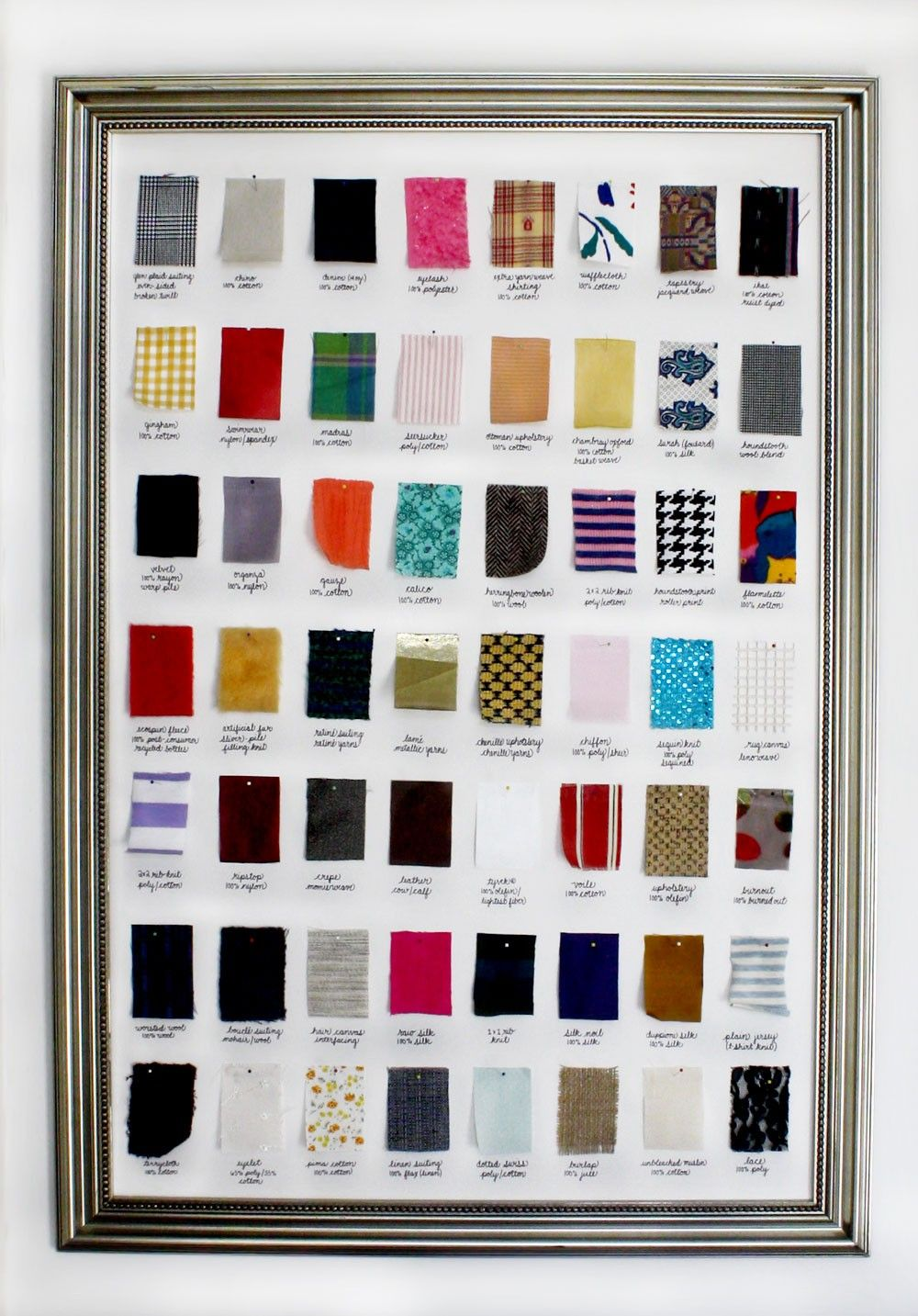 Fabric swatch book for fashion 75