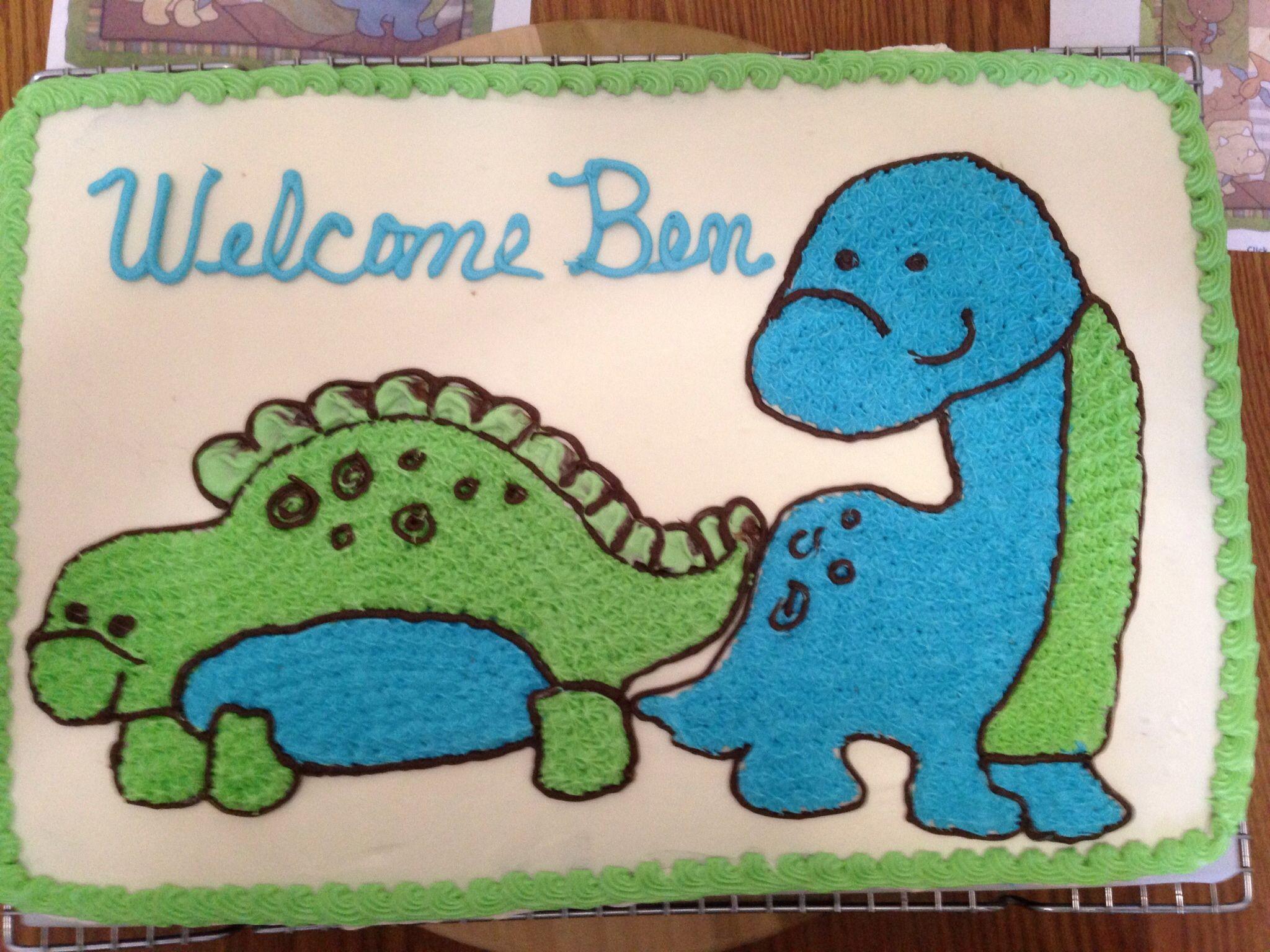 dinosaur baby shower cake ericas baby shower pinterest