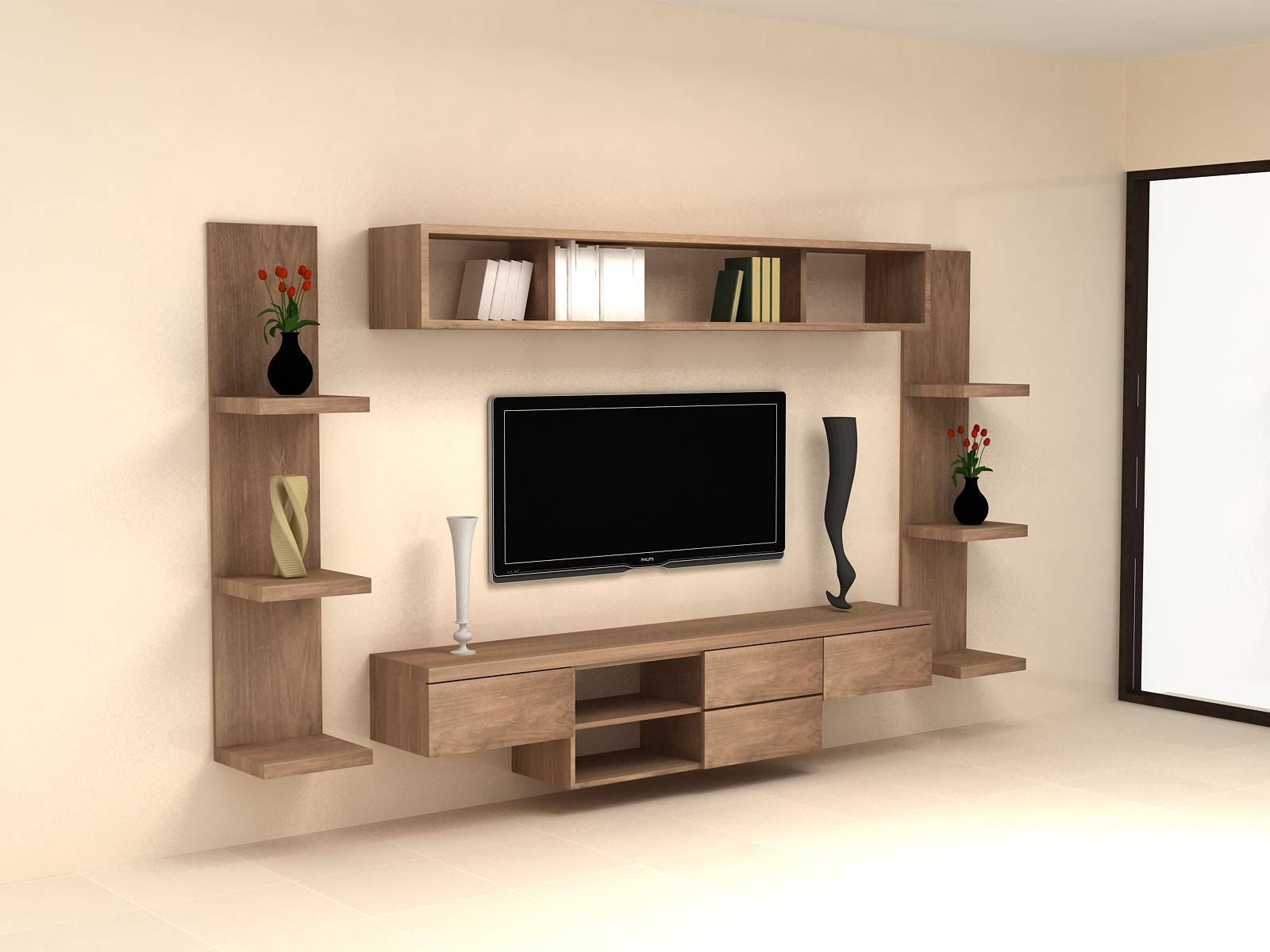 Wall hung tv cabinet 2 home decor pinterest for Wall hung media cabinet