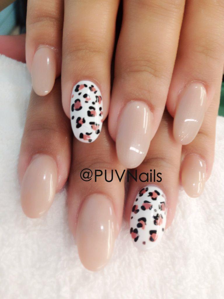 Leopard natural gel nails | Nail Crazy | Pinterest