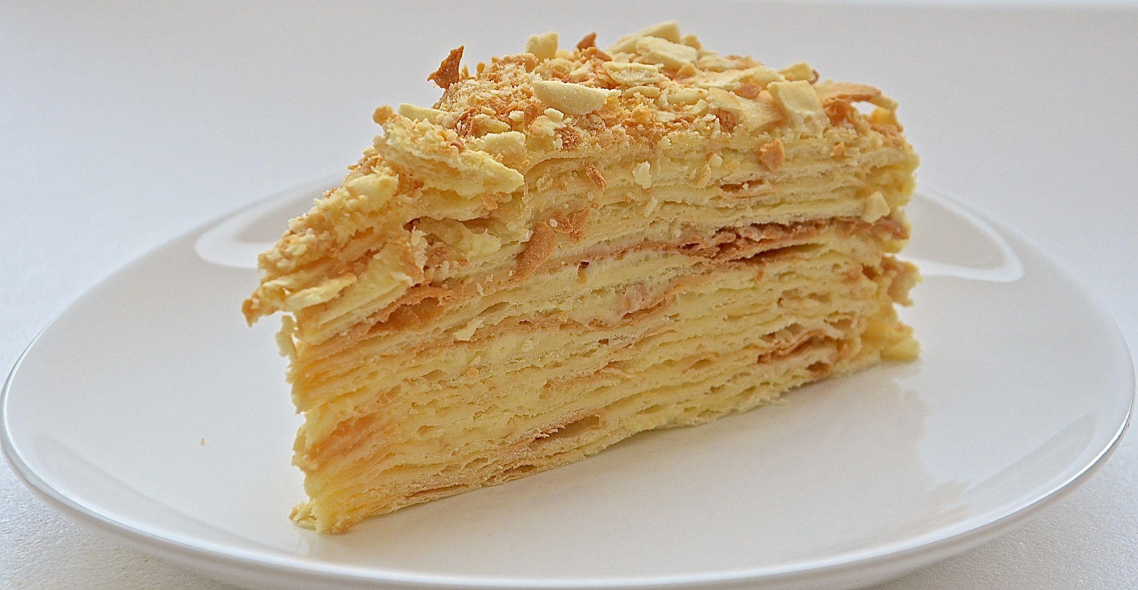Торт наполеон со сгущёнкой
