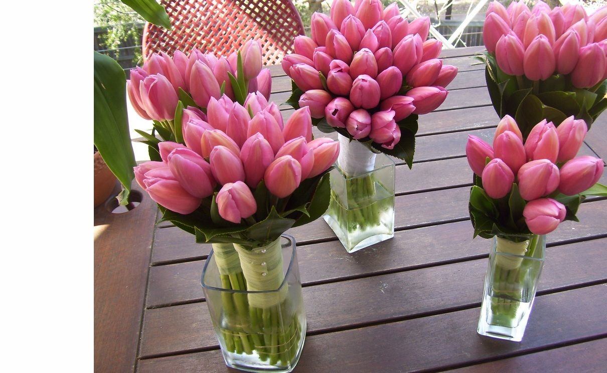 ShareHot Pink Tulip Bouquets
