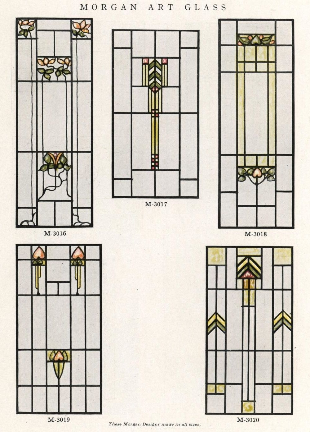 Stained glass window designs 1921 architecture for Architectural window designs
