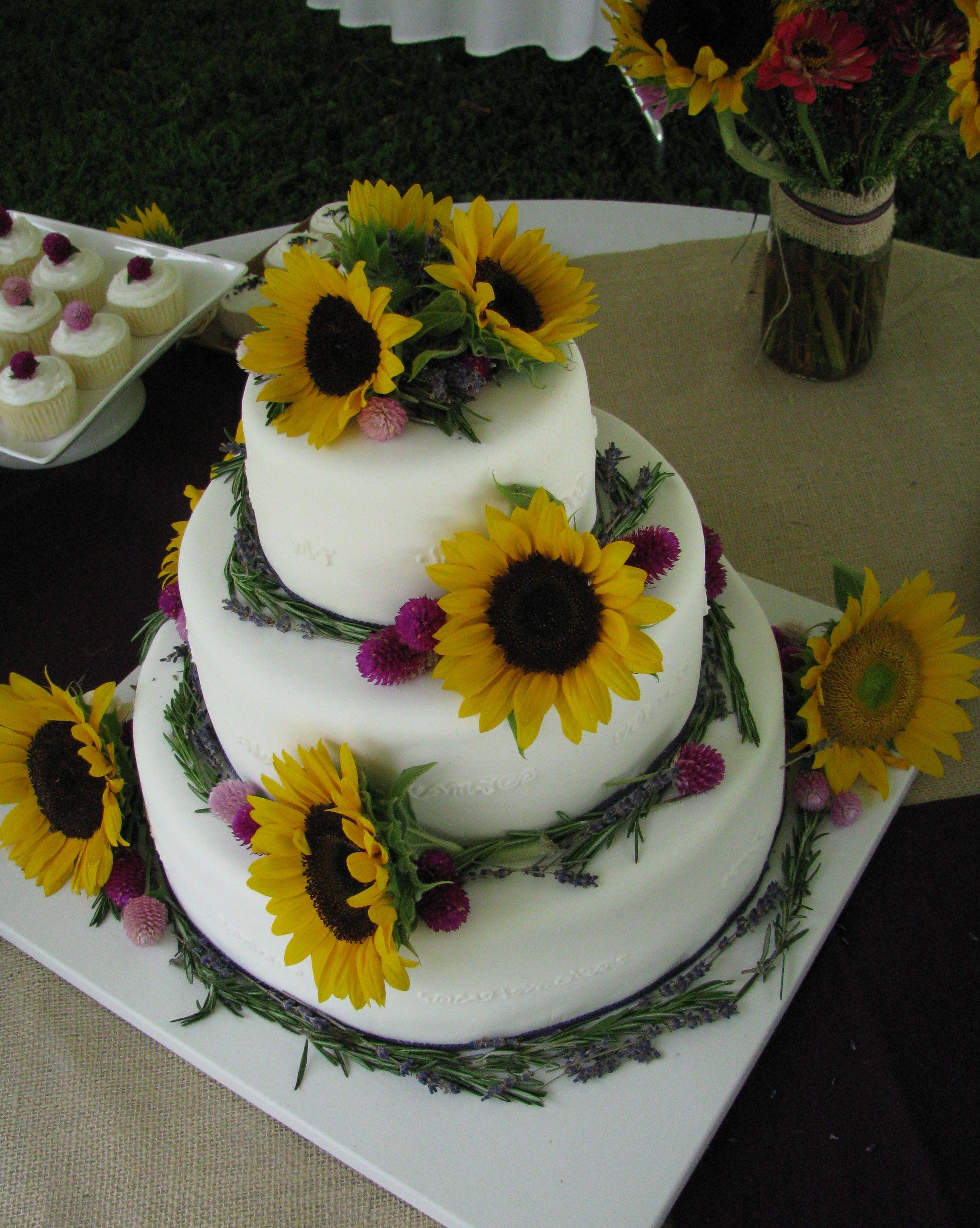 Sunflower cake Wedding Ideas