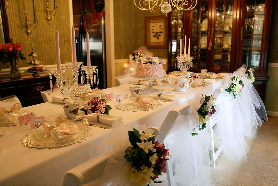 Victorian Tea Party Table Decorations Photograph