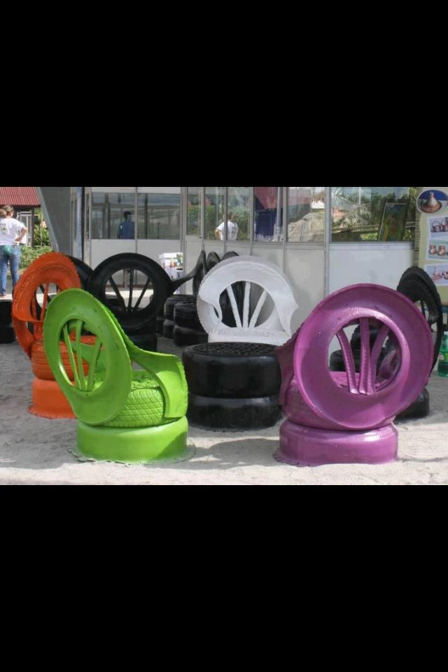 Tire chairs things to make out of old tires pinterest Things to make out of old tires