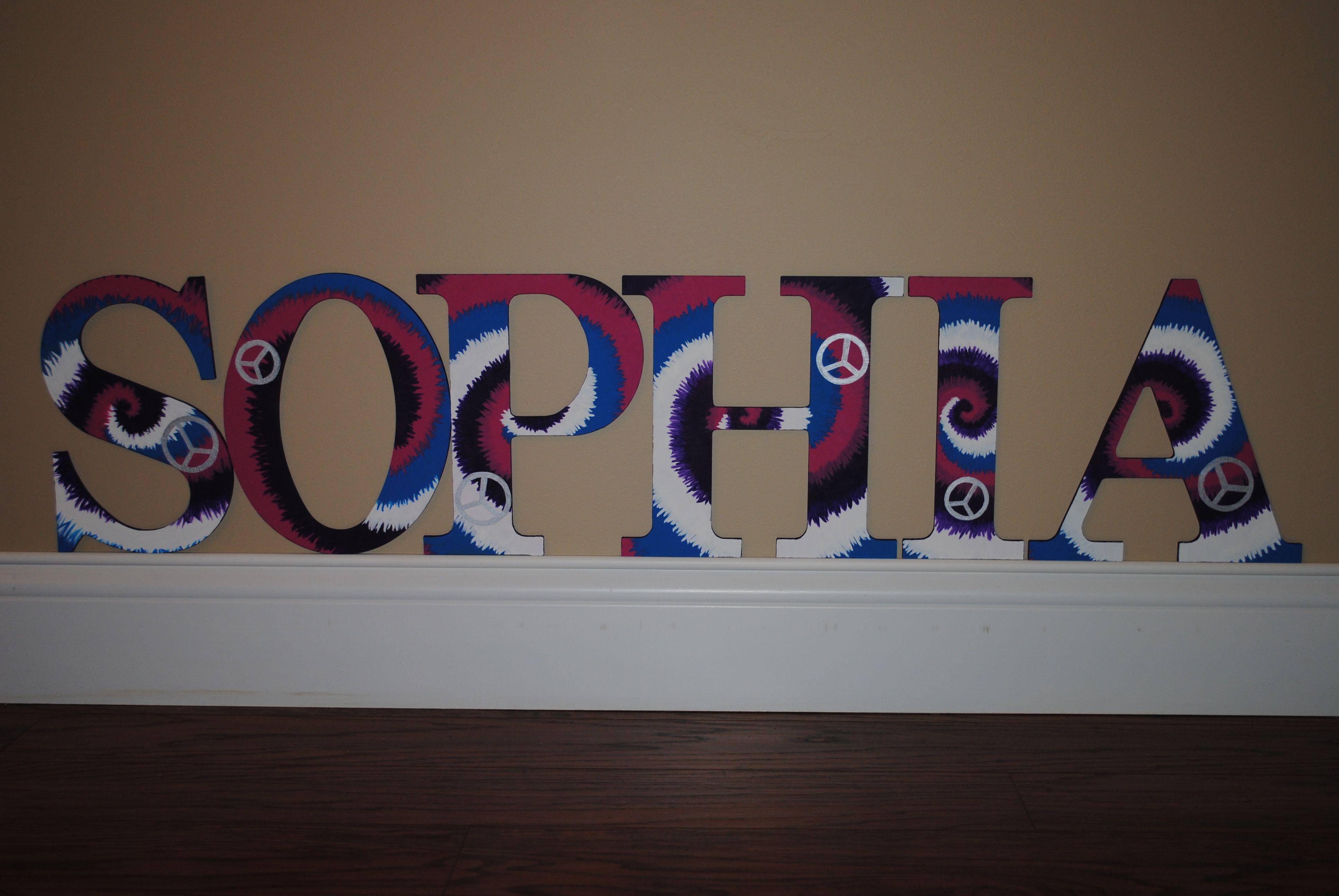 Decorative Wall Letters Pinterest : Decorative wall letters tie dye