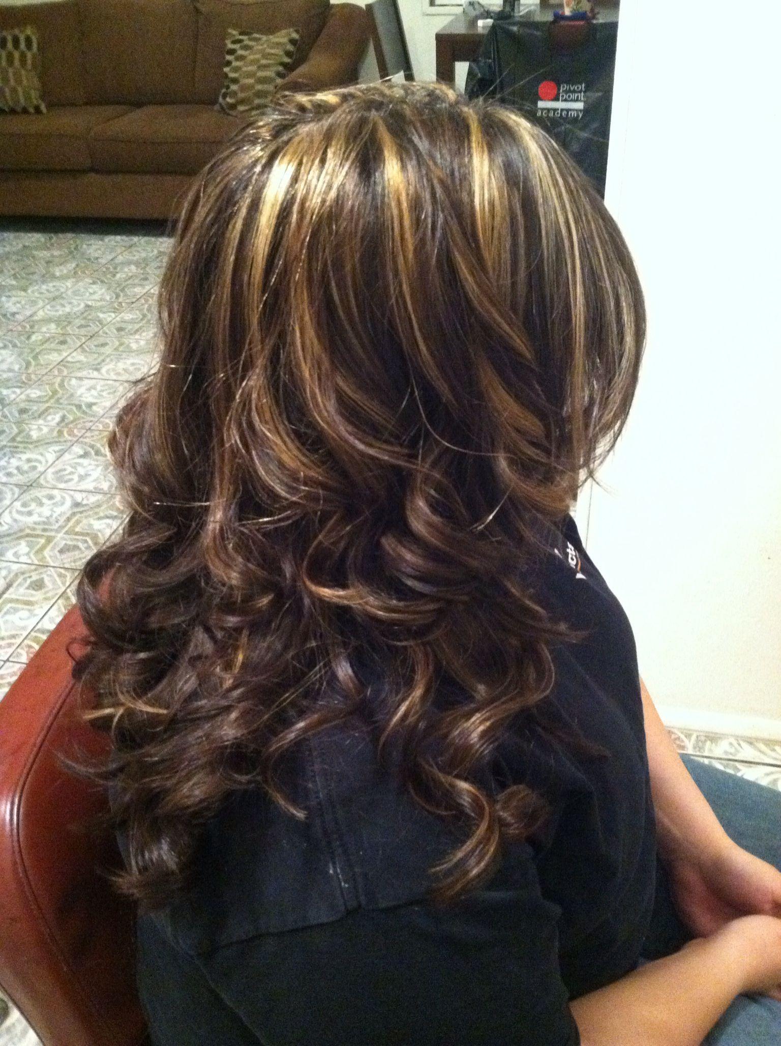 Brown hair caramel highlights | Hair and makeup | Pinterest