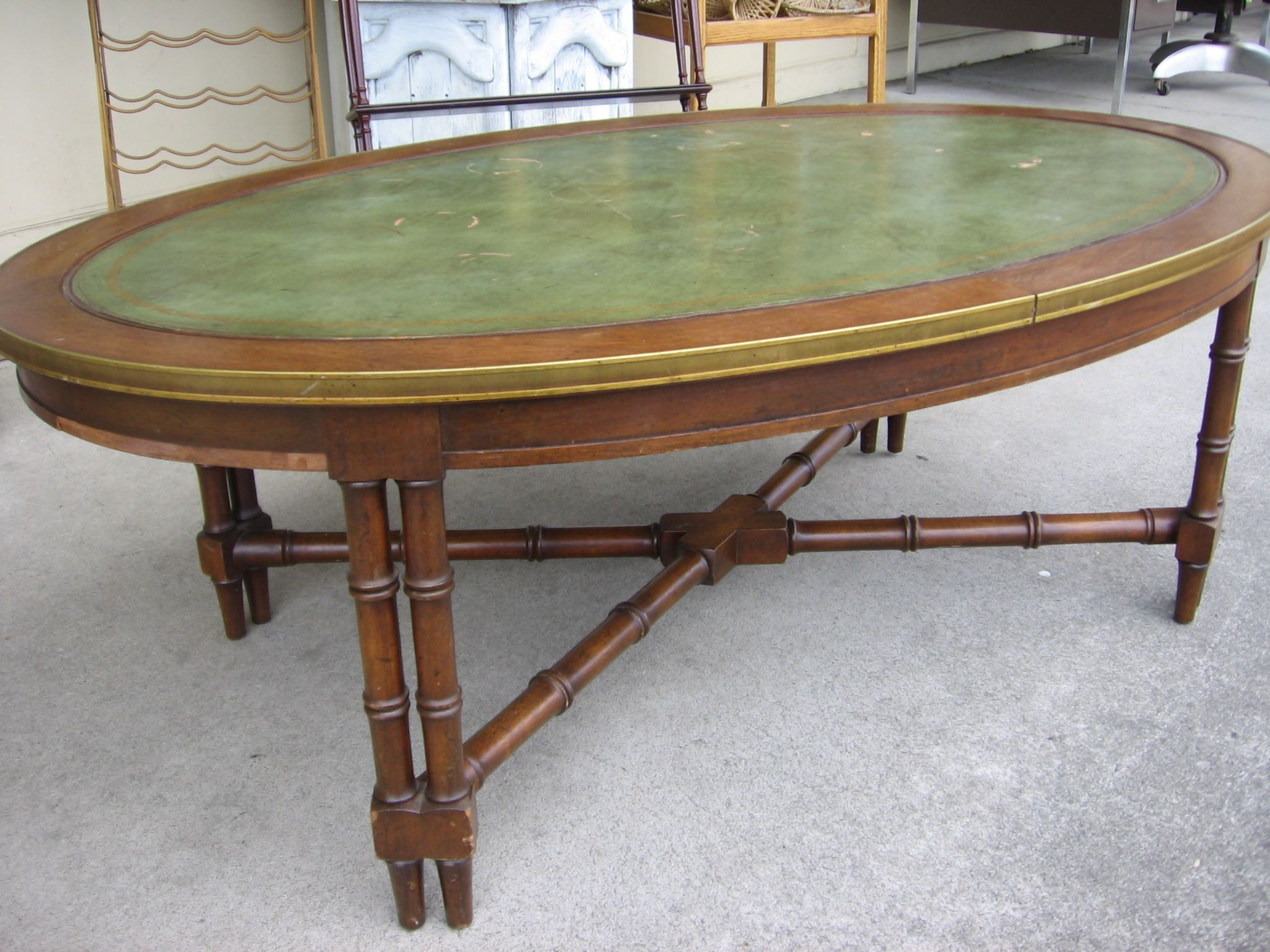 Oval Leather Top Coffee Table Gone To A Good Home Pinterest