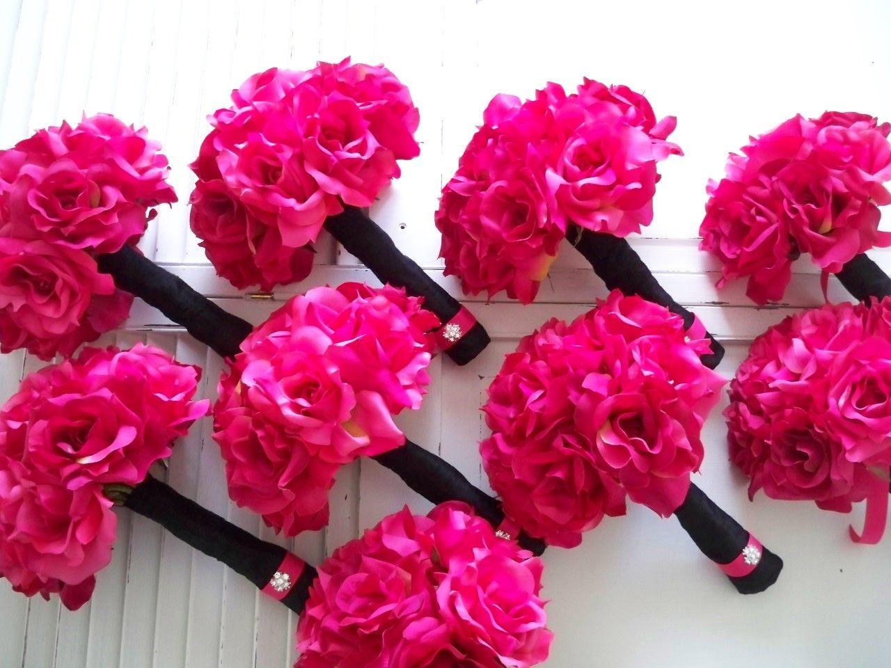 Hot Pink Bouquet | wedding | Pinterest