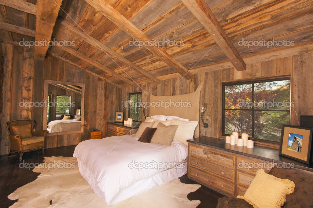 LOG CABIN BEDROOM LOG CABINS INSIDE OUT Pinterest