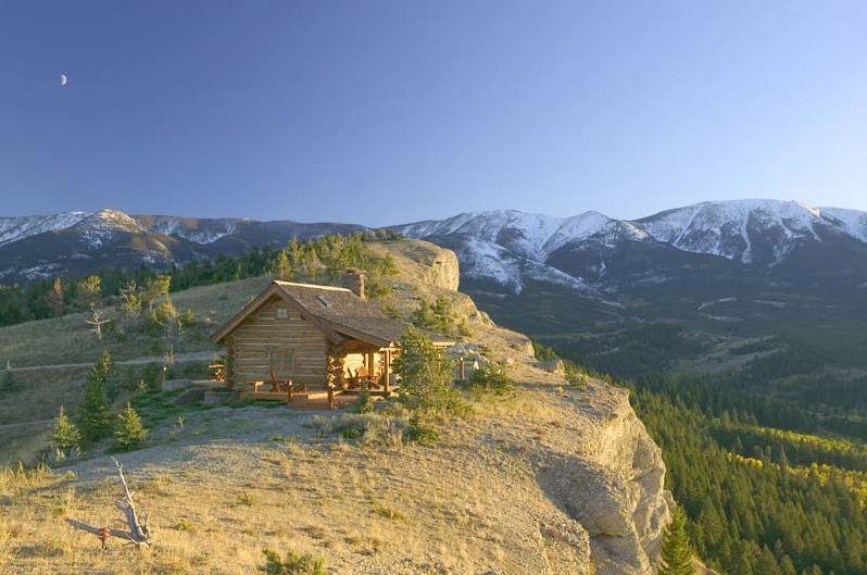 Montana Log Cabin Escape Pinterest