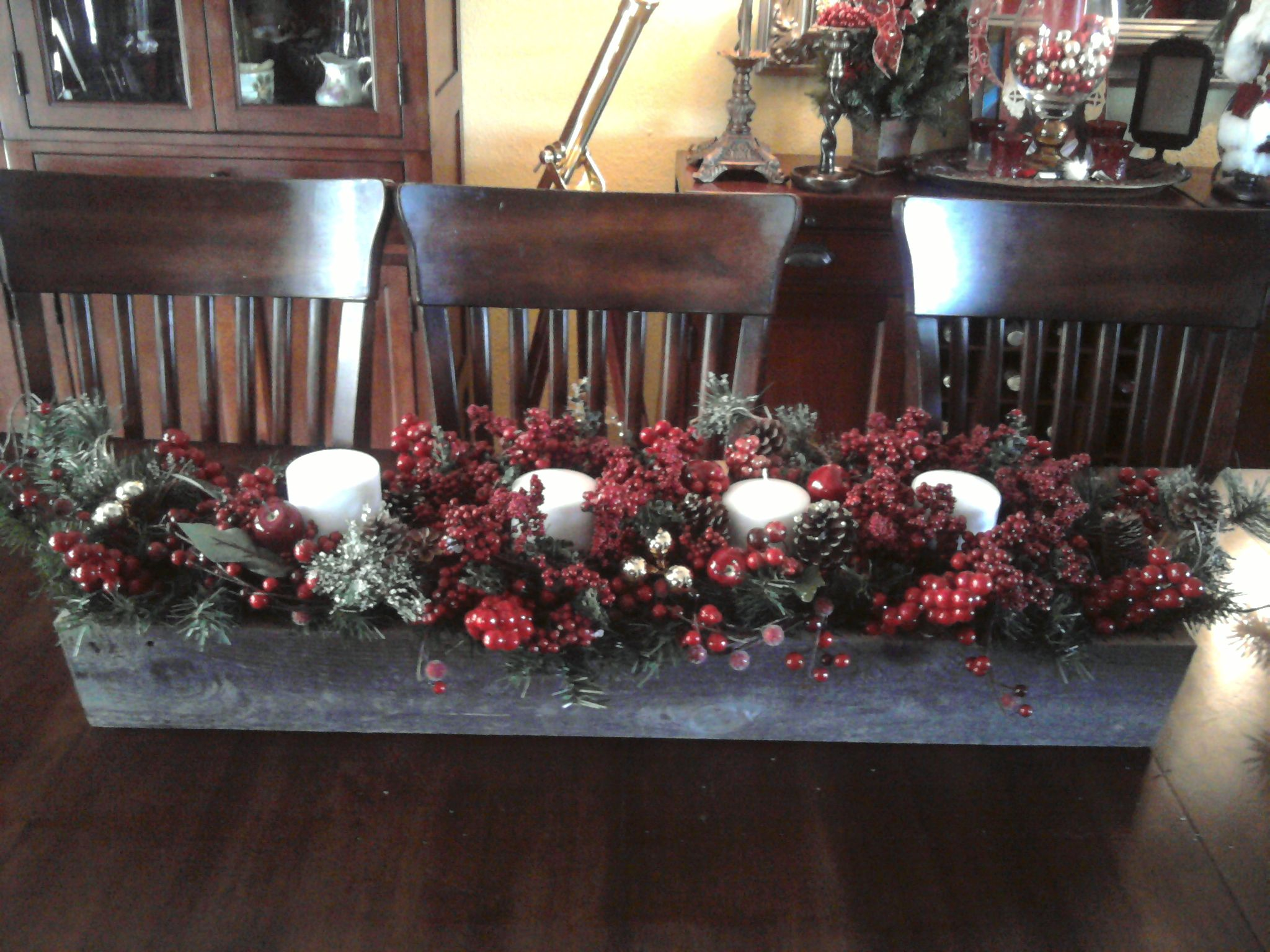 Centerpiece I Made For The Holidays Christmas Ideas Pinterest
