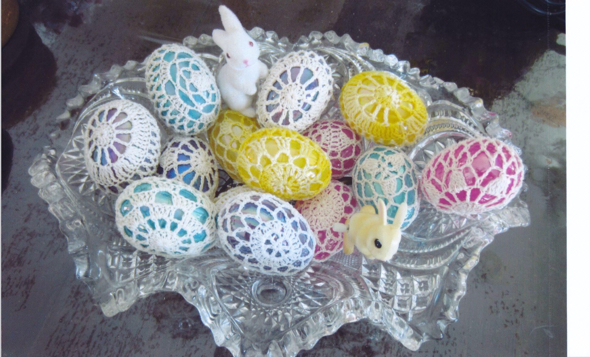 Crocheting Easter Eggs : Crocheted Easter eggs. Easter eggs Pinterest