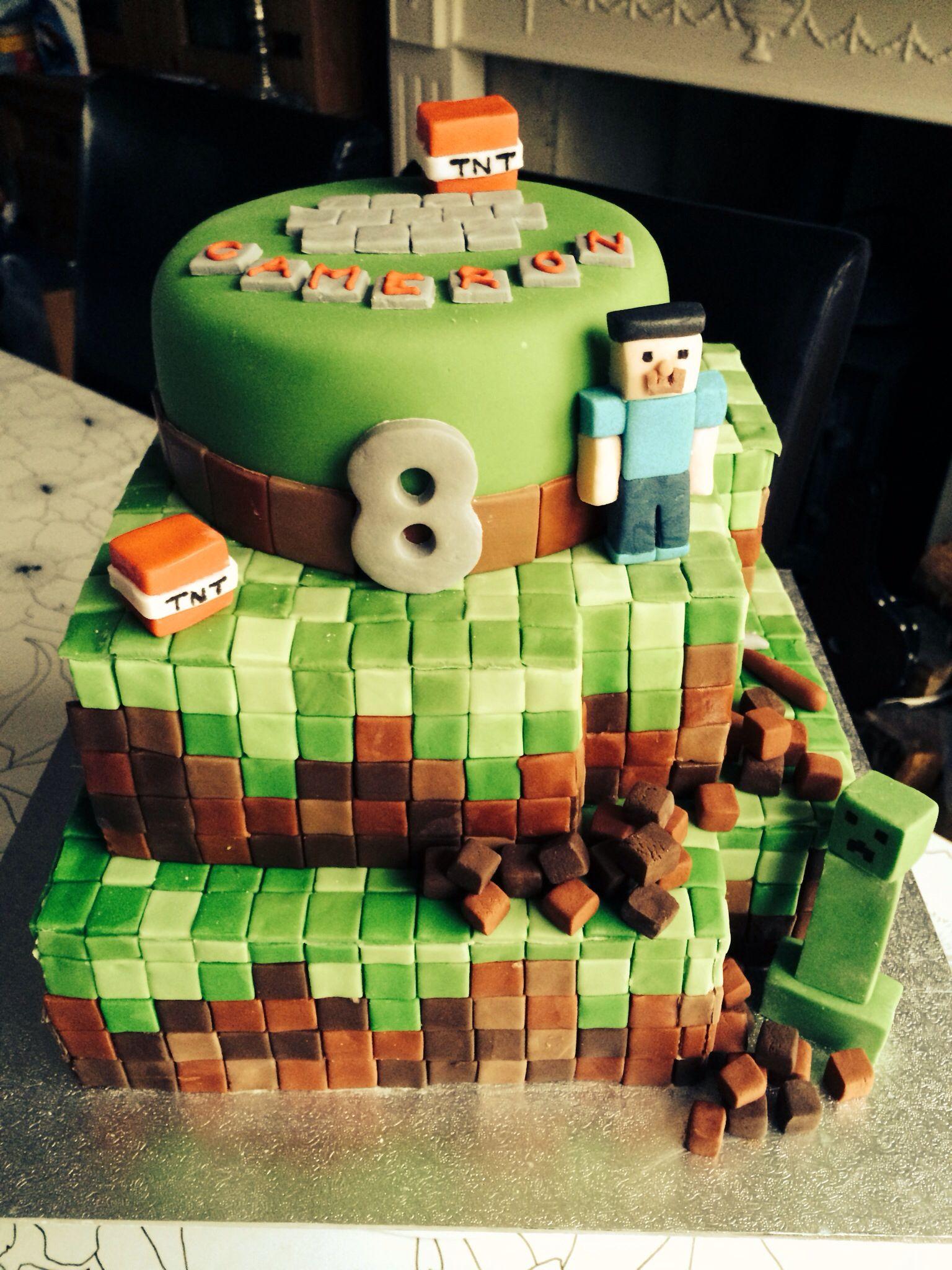 Minecraft Birthday Cake Birthday Ideas Pinterest