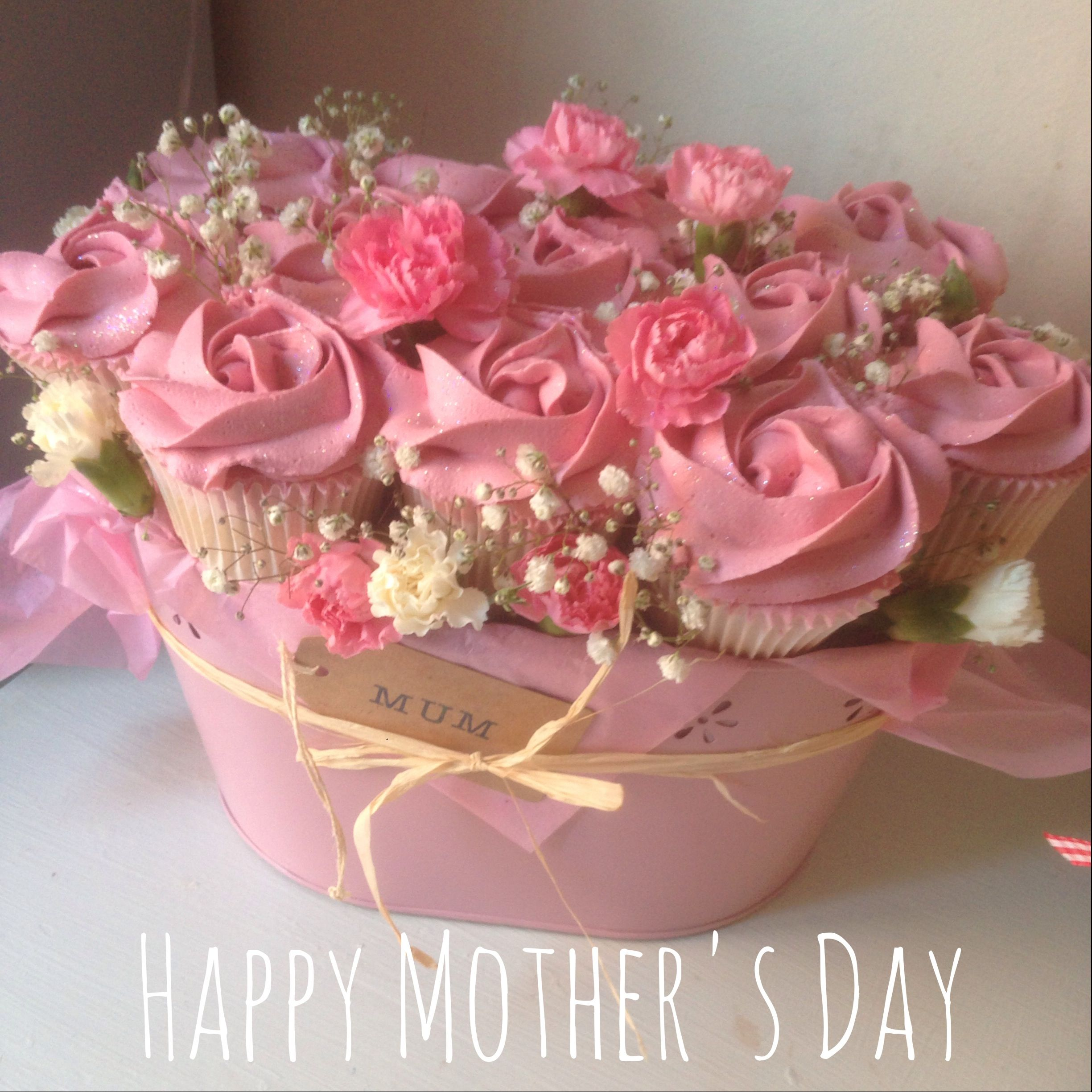 Flower Basket Mothers Day Cake : Mother s day cupcake bouquet bouquets