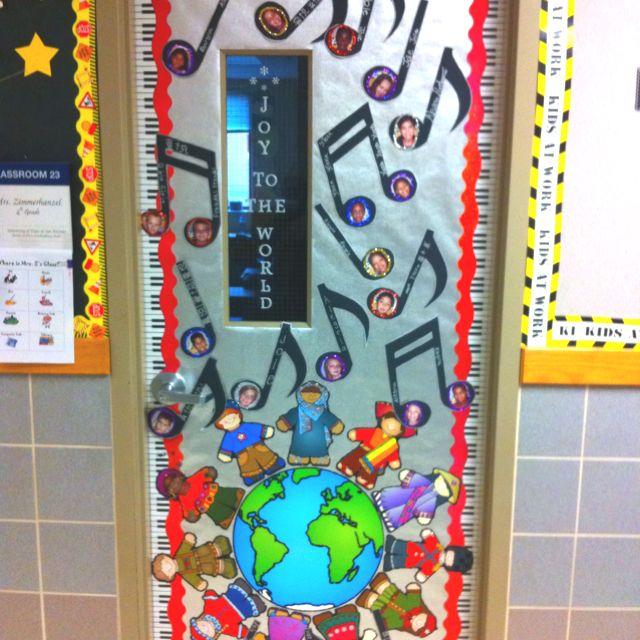 Christmas Door Decor | Education | Pinterest