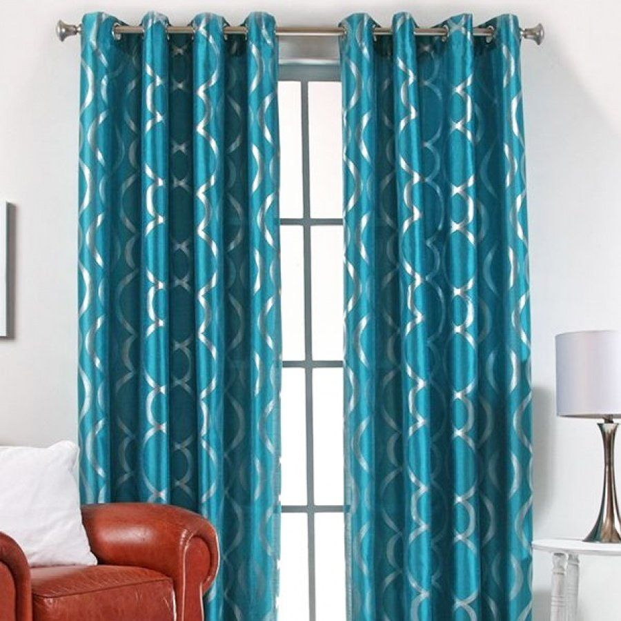 lafayette-grommet-top-curtain-panel | The Teal and Turquoise Home | P ...