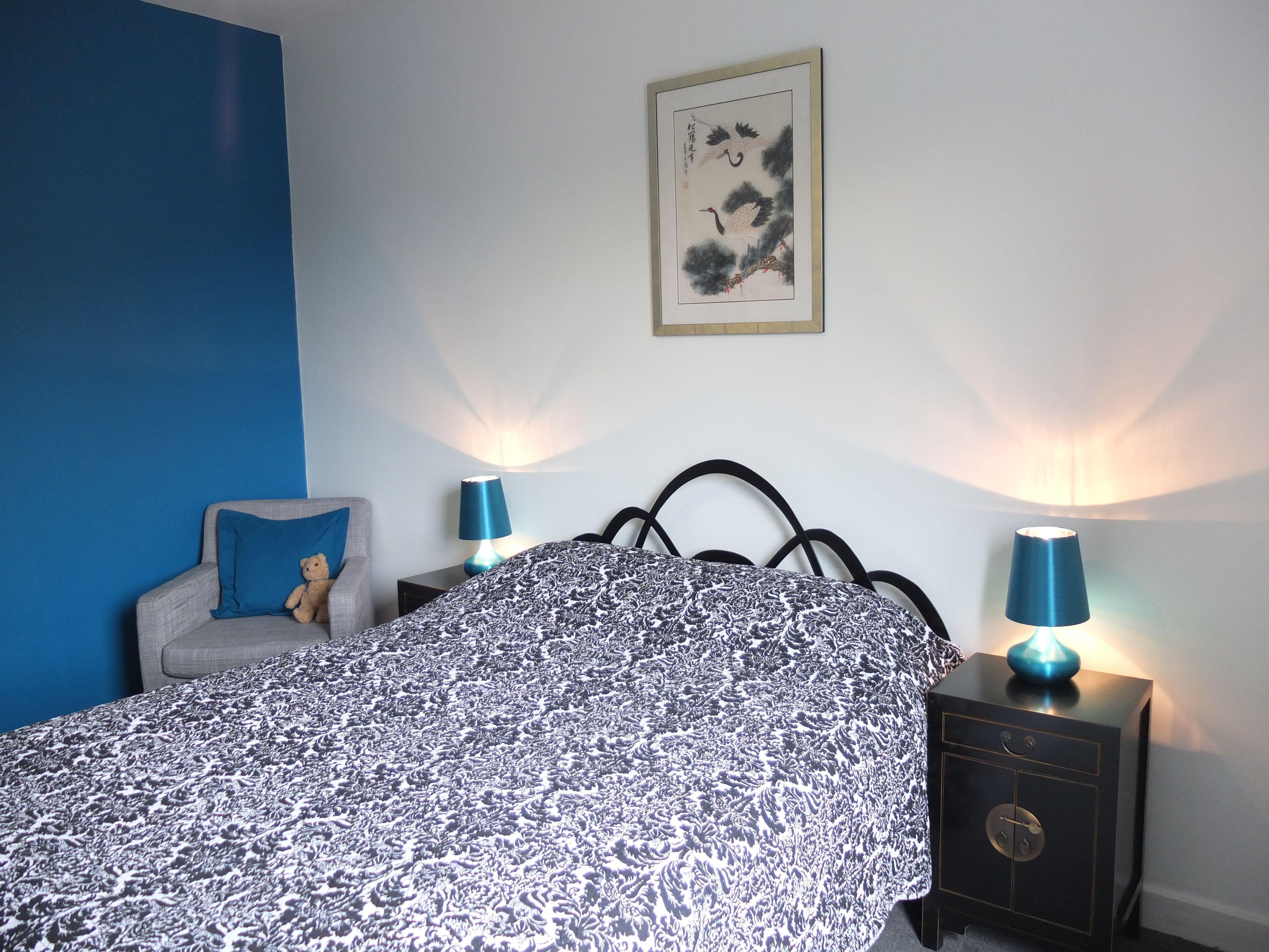 Black White & Teal Bedroom Bedroom decoration