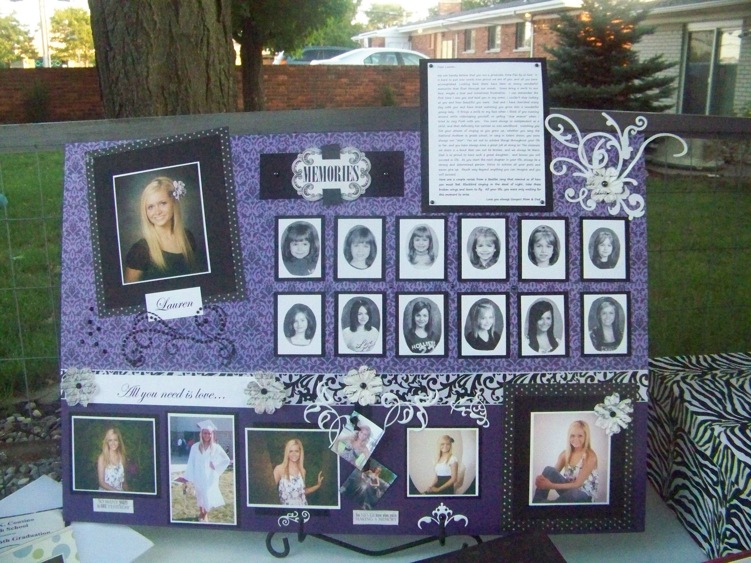 Grad Display Board Graduation Party Ideas Pinterest