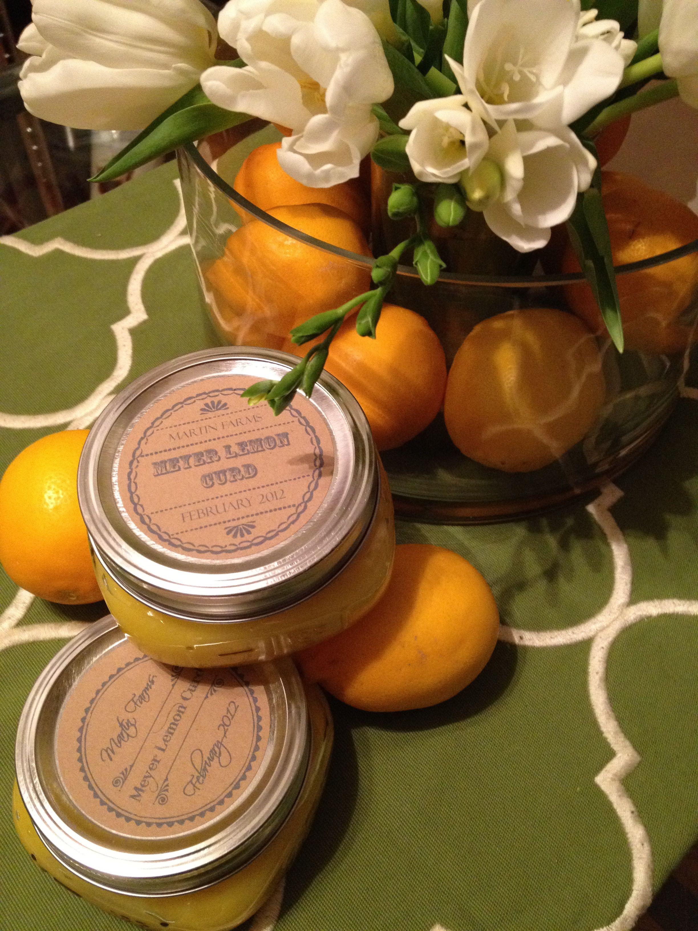 meyer lemon curd | Fondant & Topping Fun | Pinterest