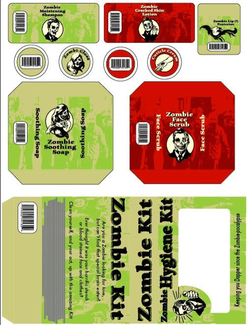 printables for zombie survival kits | just b.CAUSE