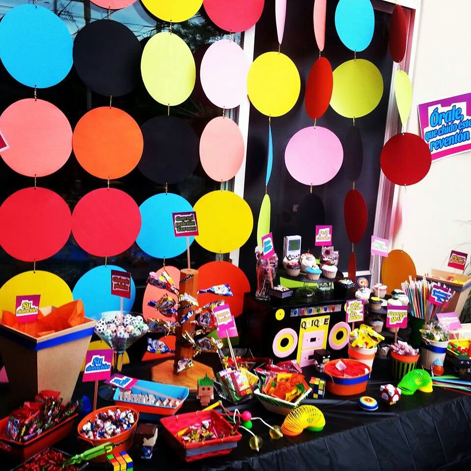 Pin by lau de serna on candy station ags pinterest for 90 s party decoration ideas