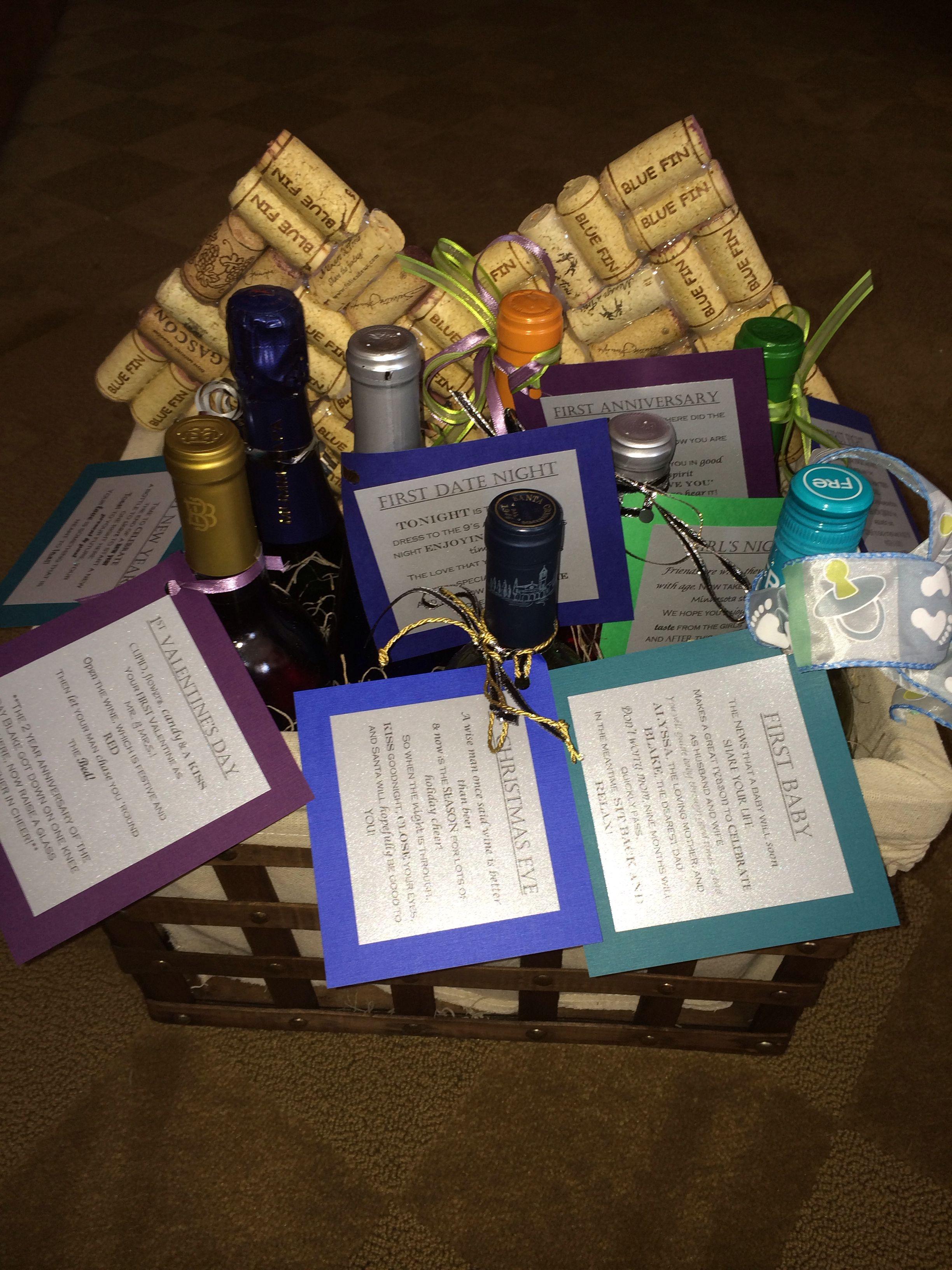 Wedding Gift Basket Wine : Wine Wedding Gift basket Wedding Ideas Pinterest