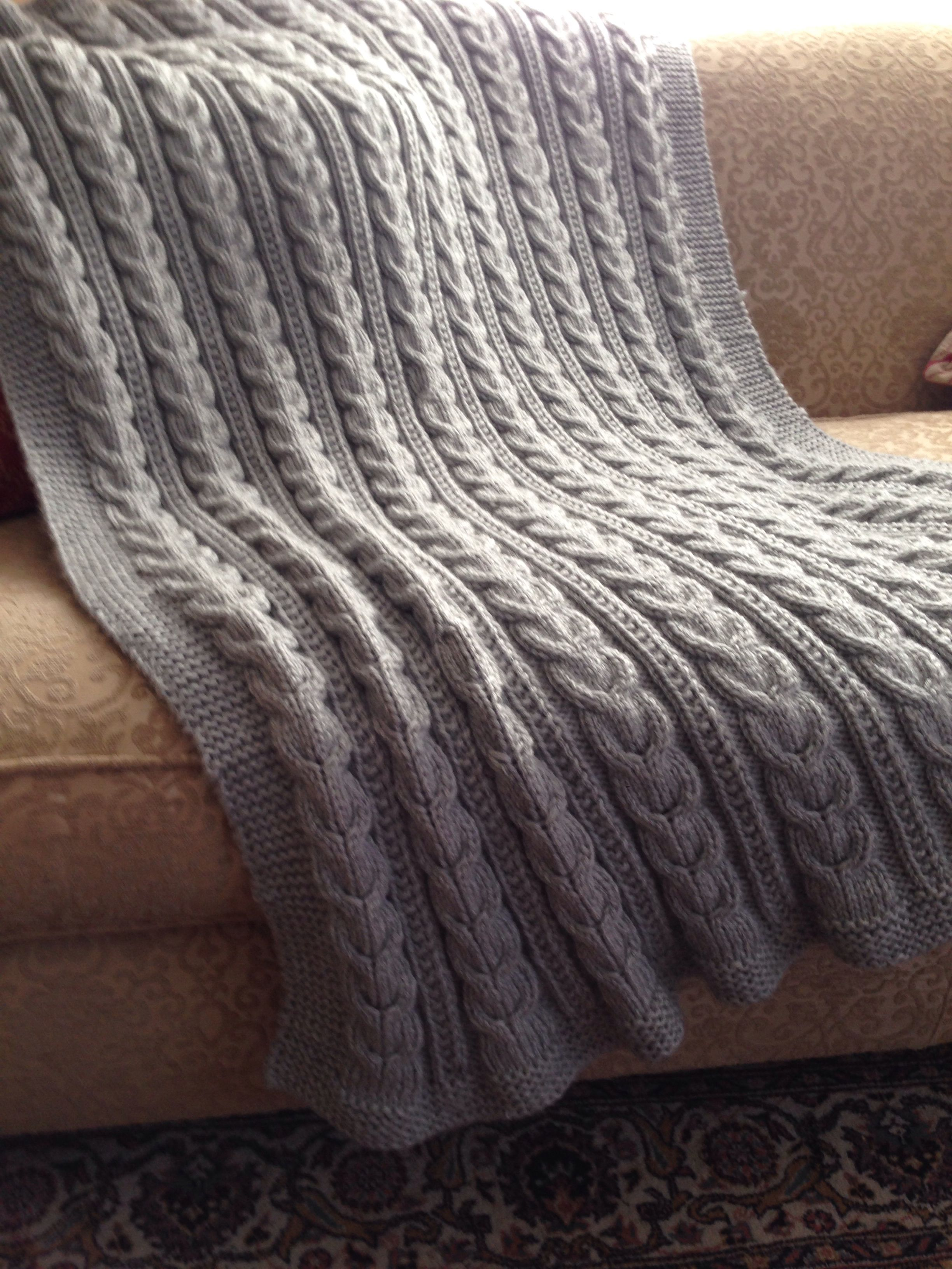 Crochet Cable Knit Blanket