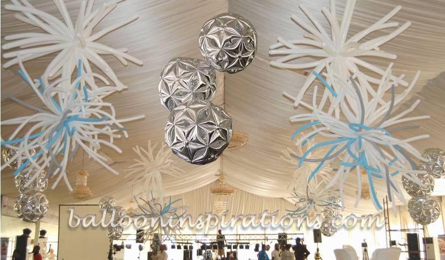 Ceiling balloon decor balloon art pinterest for Balloon ceiling decoration