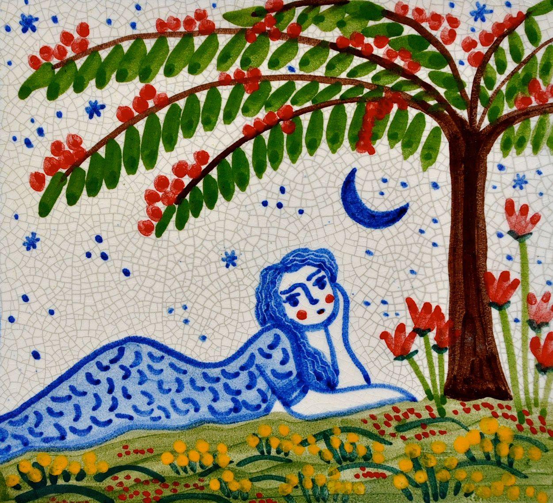 Azulejo tumbada en azul ceramic tiles pinterest for Azulejo azul