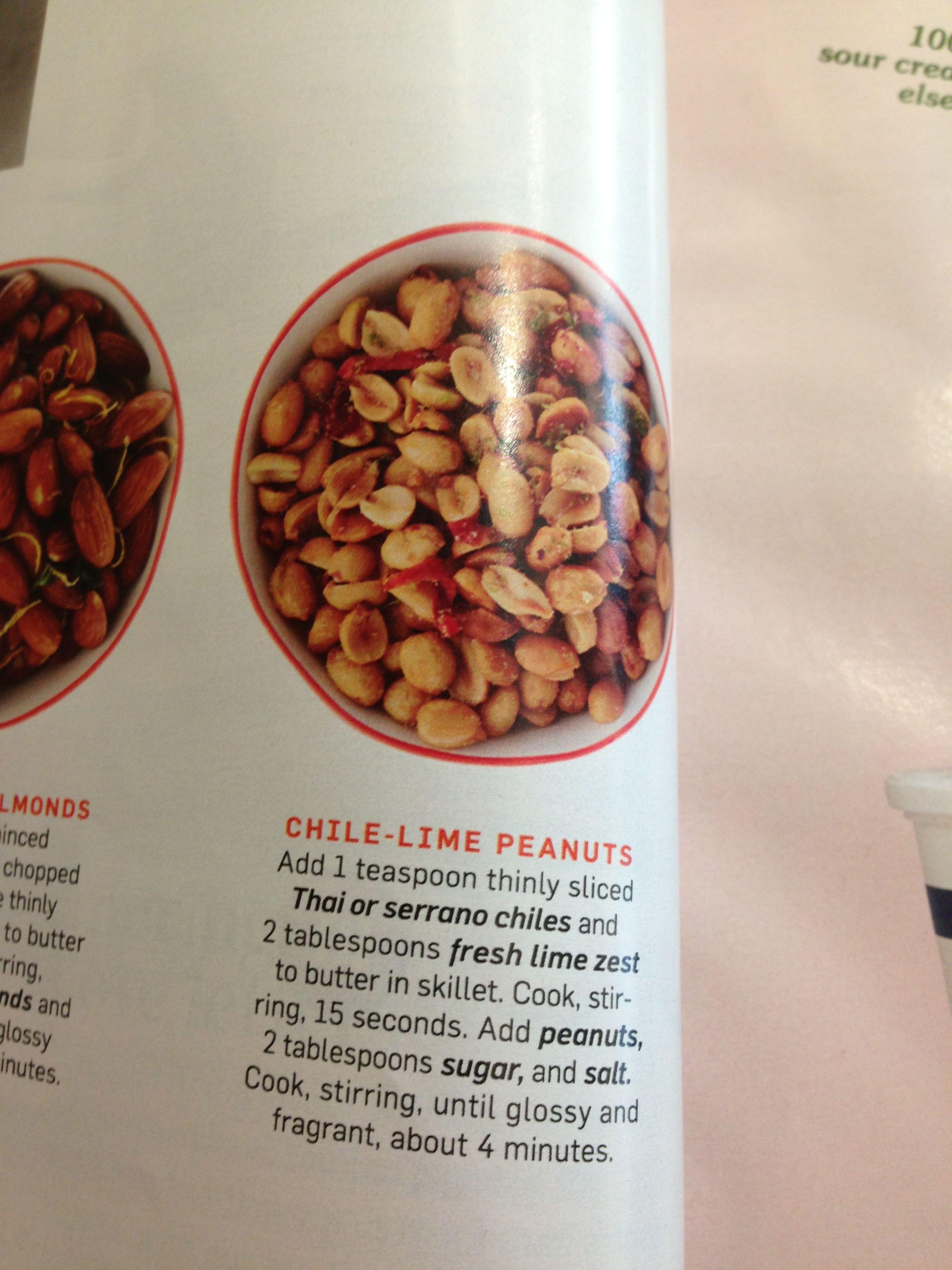 Chile lime peanuts | Easy Food | Pinterest