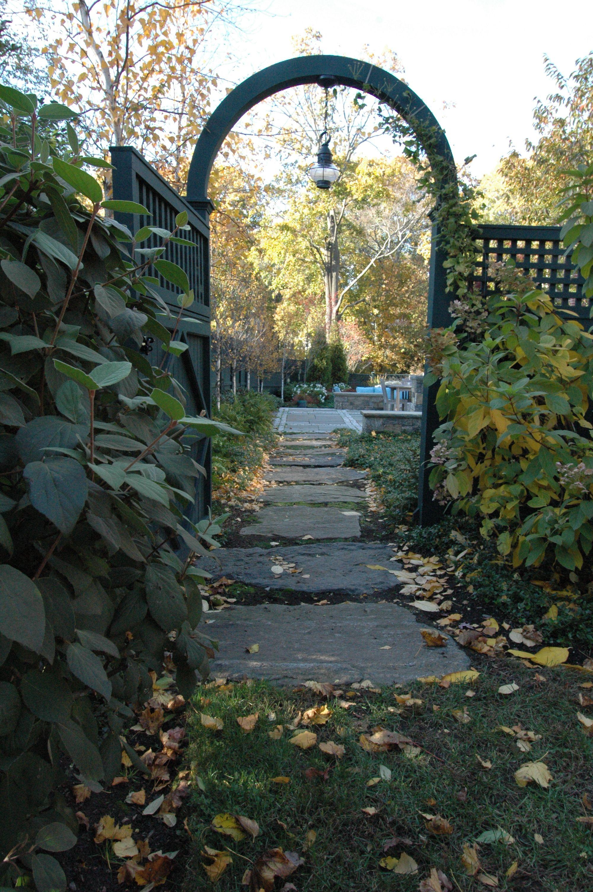 garden gate and arbor garden Pinterest